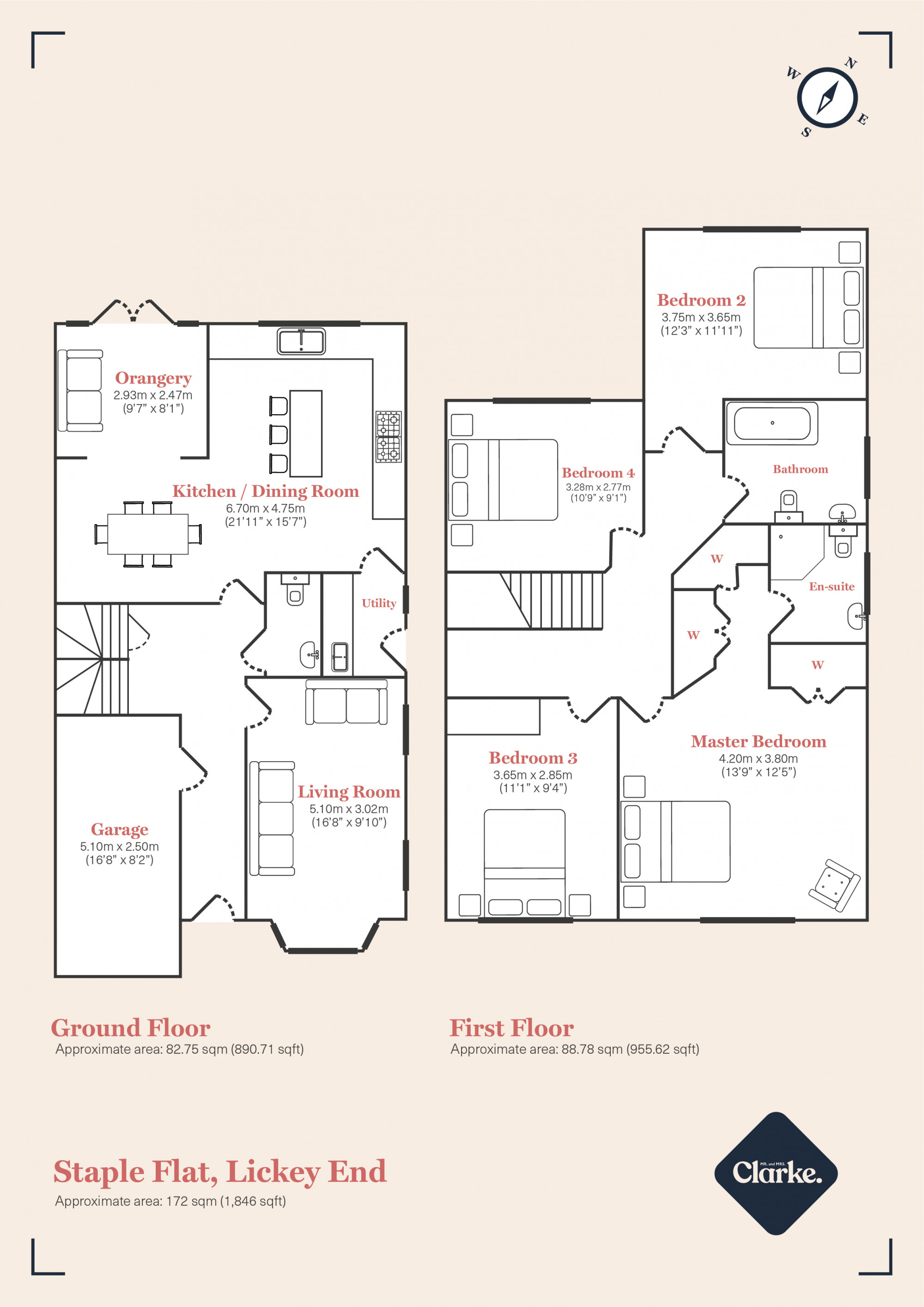Field View, Lickey End. Floorplan.