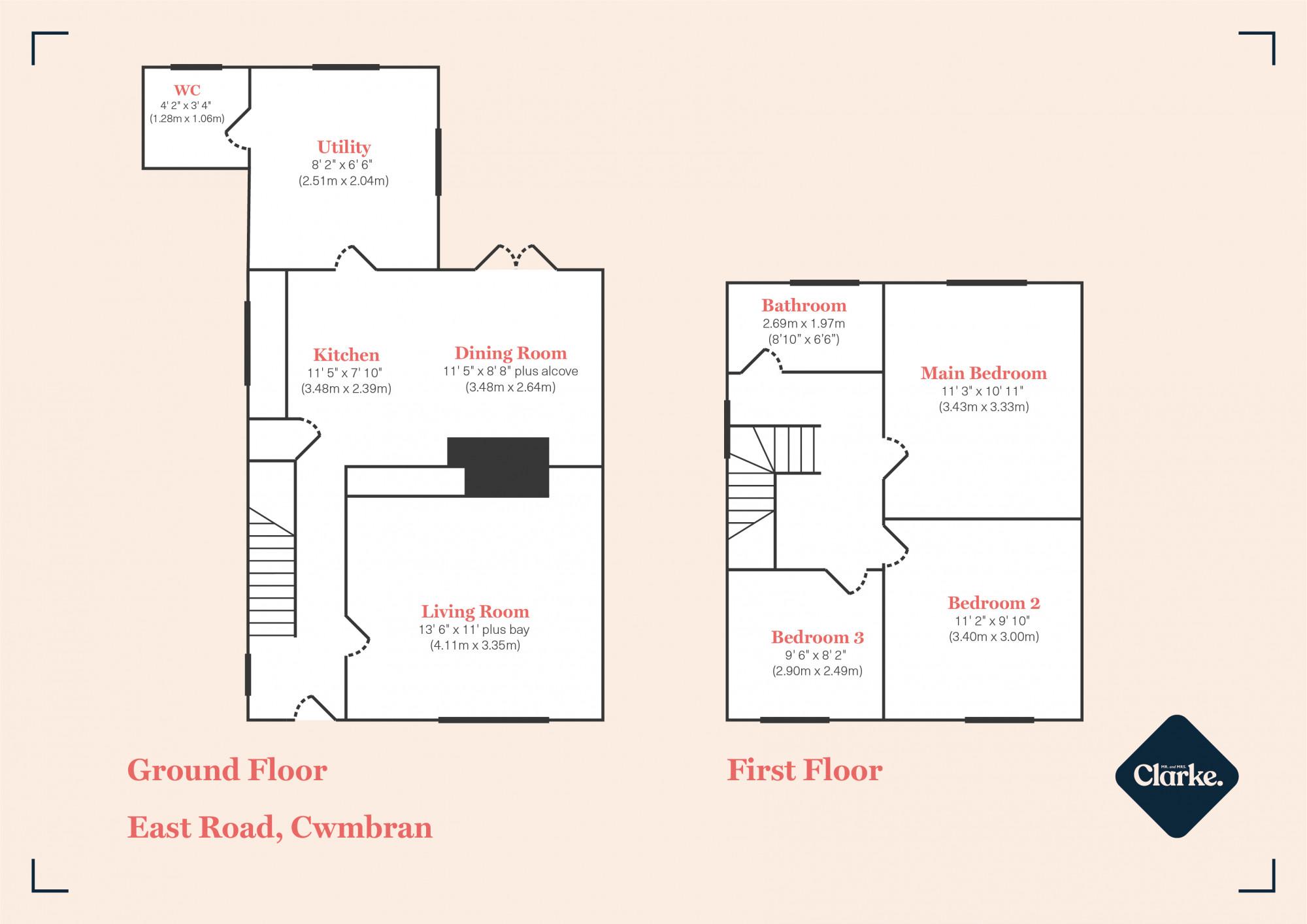 East Road, Cwmbran. Floorplan.