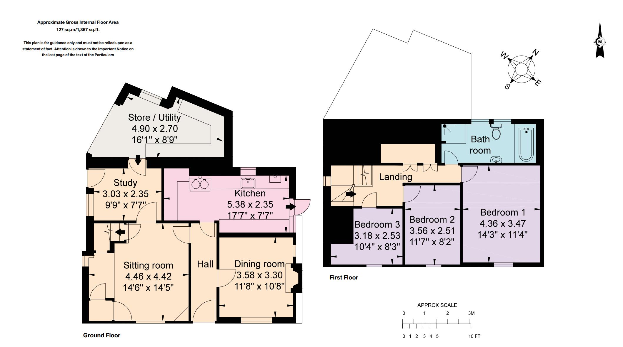 Tudor Cottage, Bearley. Floorplan.