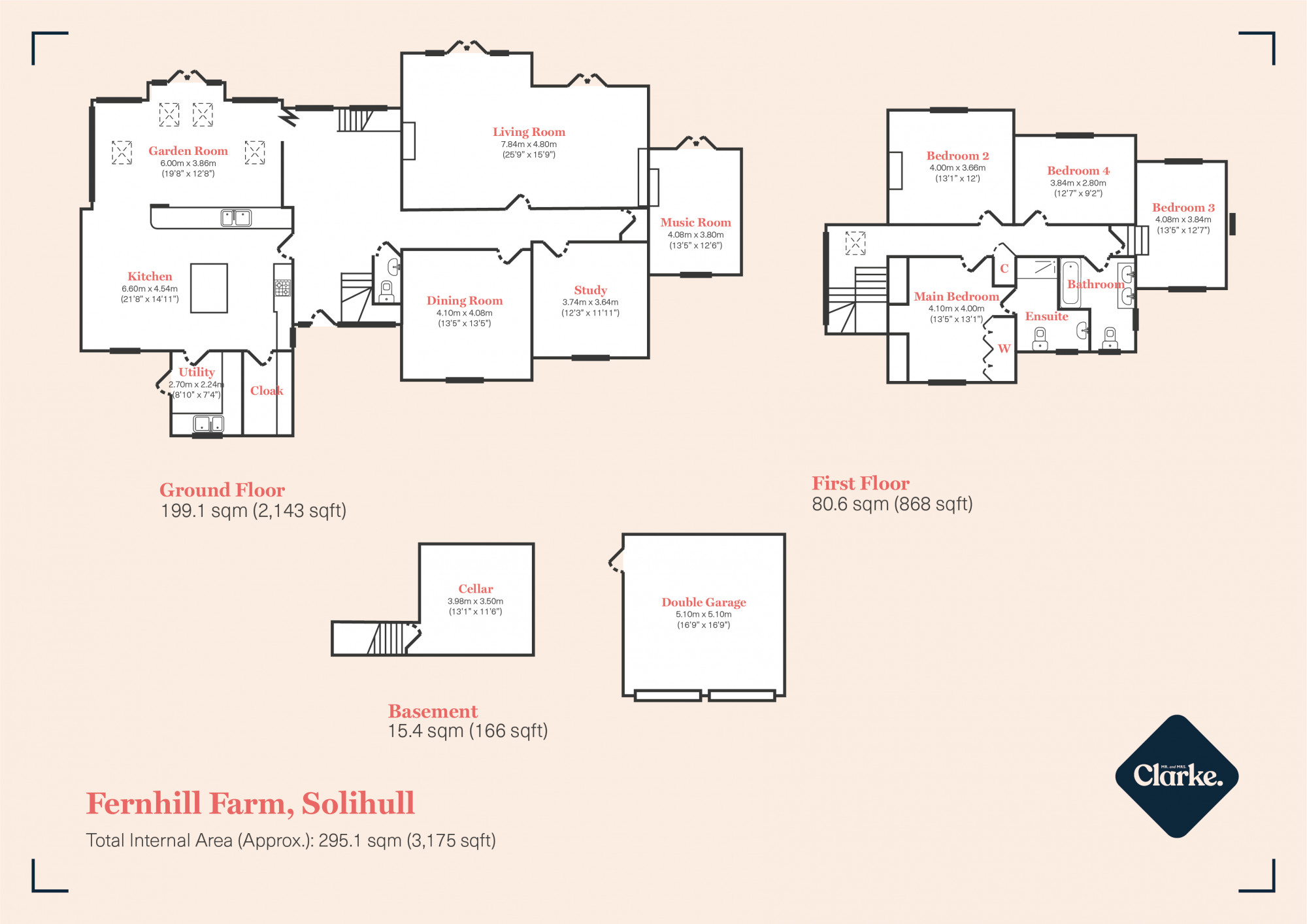 Fernhill Farm, Fen End. Floorplan.