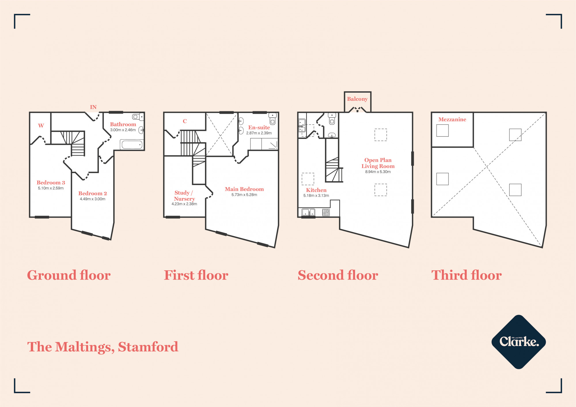 The Maltings, Stamford. Floorplan.
