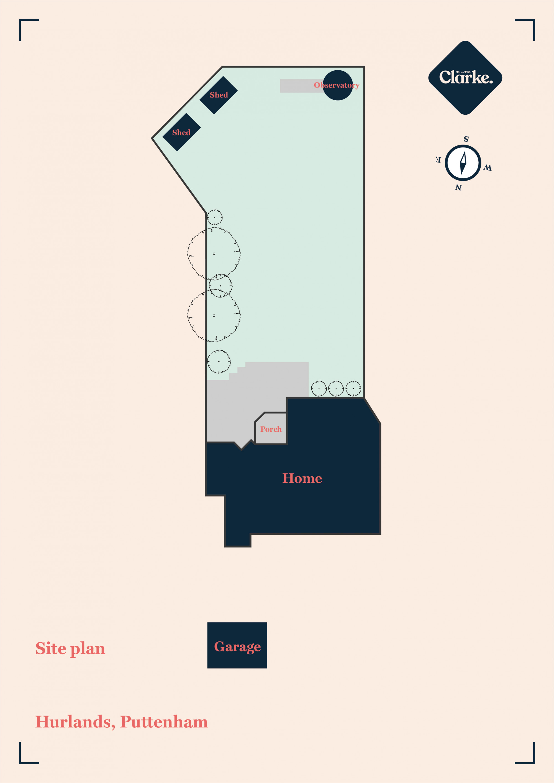 Hurlands, Puttenham. Floorplan.