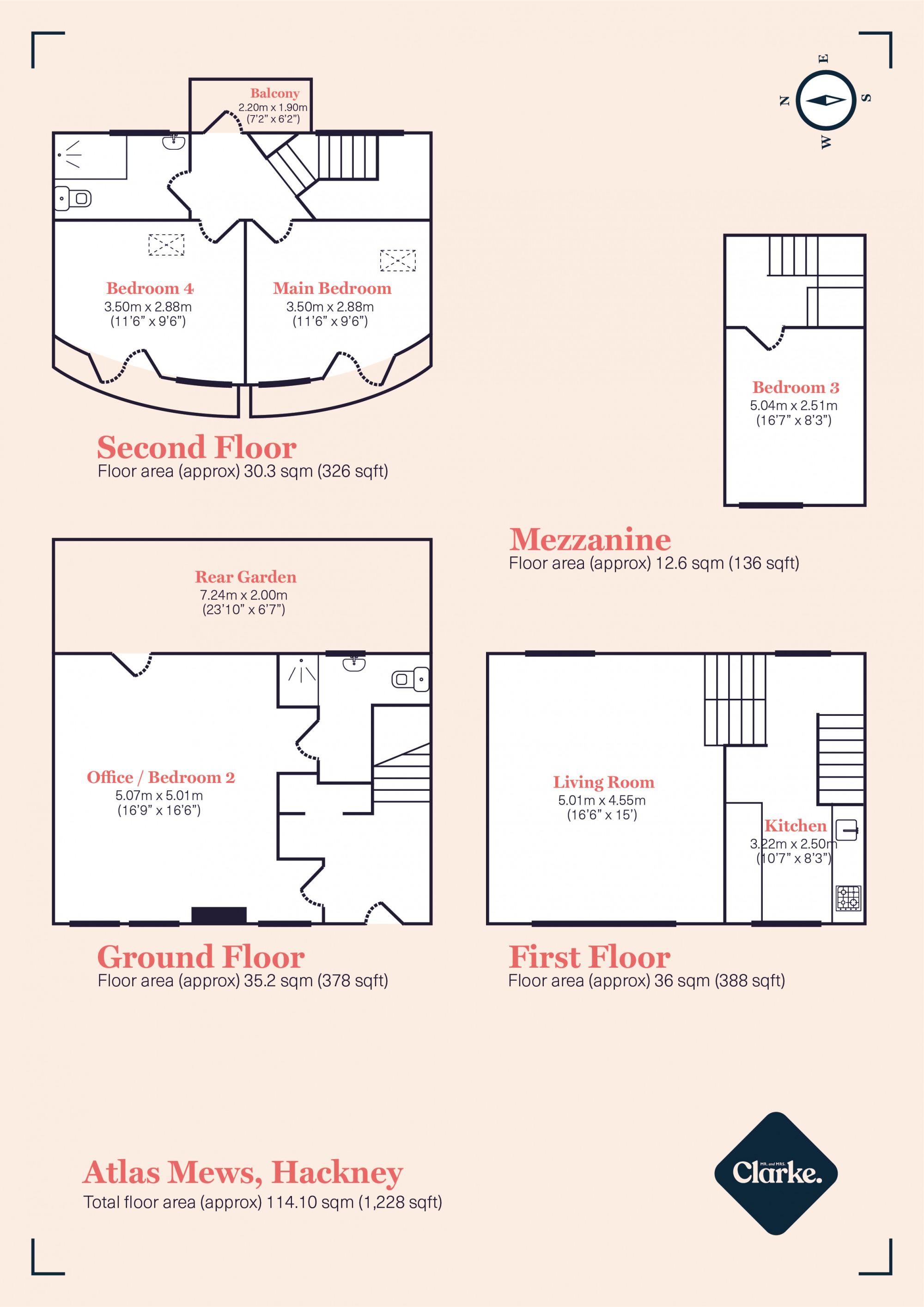 Atlas Mews, Hackney. Floorplan.