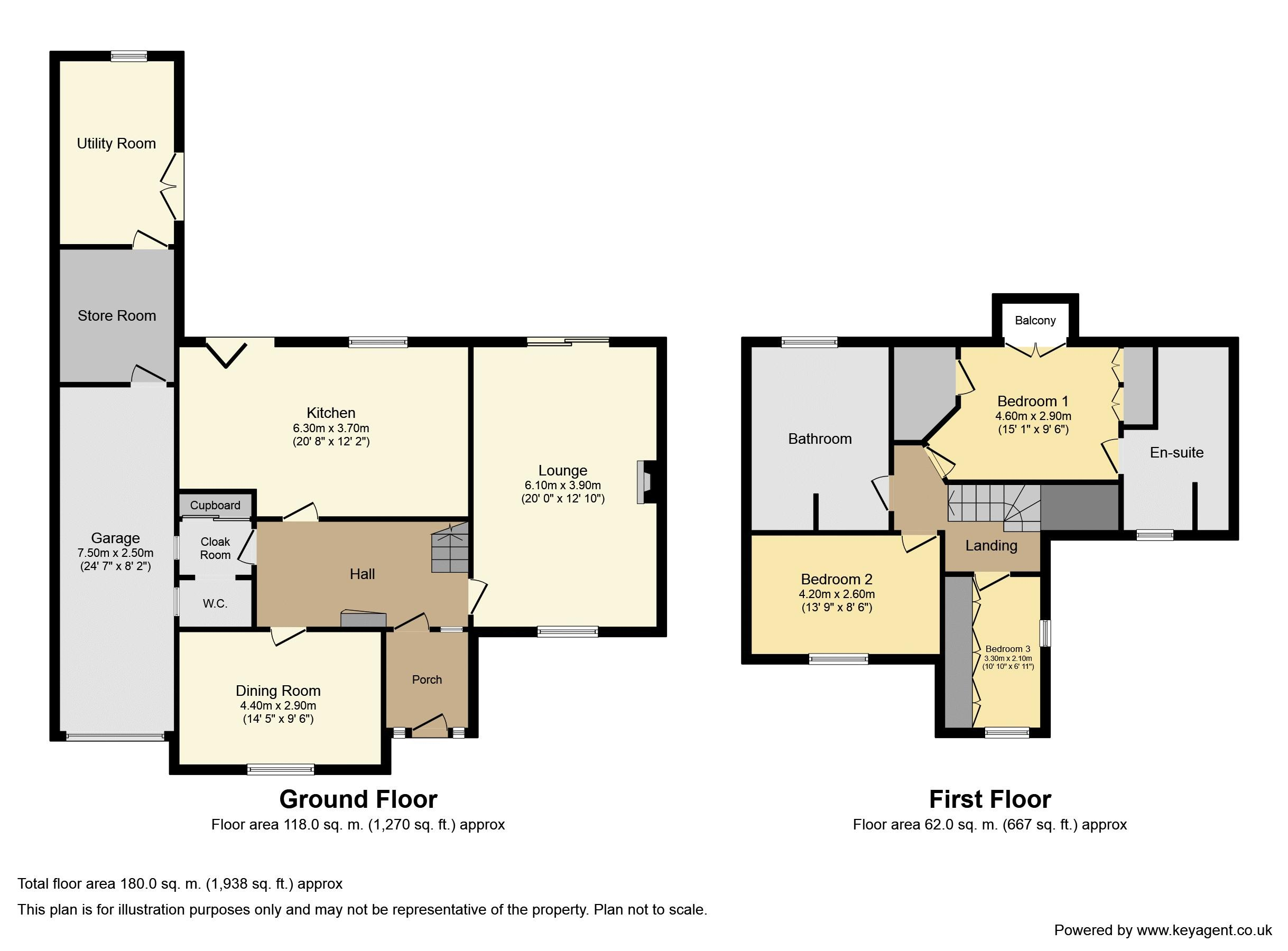 Stoneleigh Close, Stoneleigh. Floorplan.