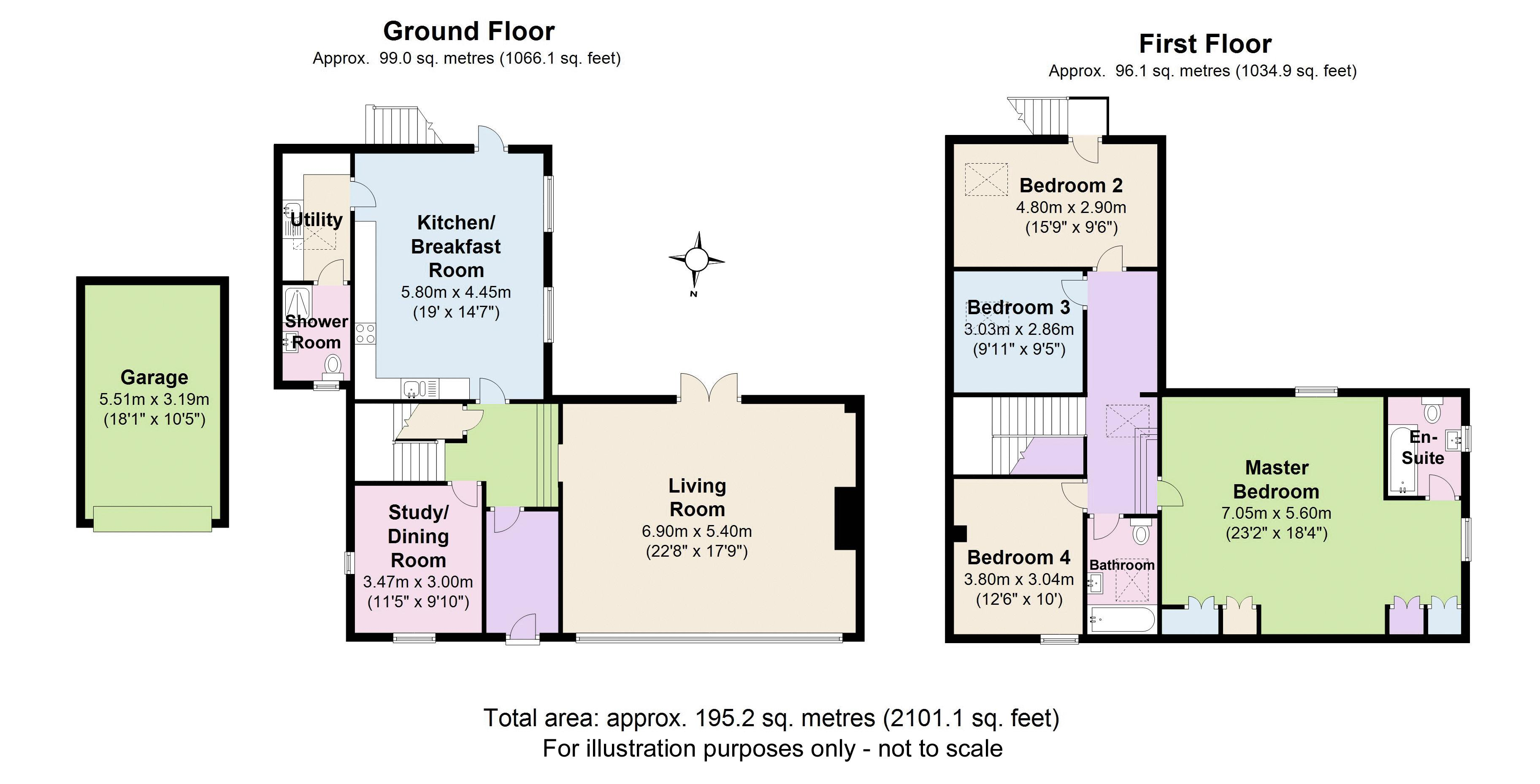 Rectory Barn, Broadwell. Floorplan.