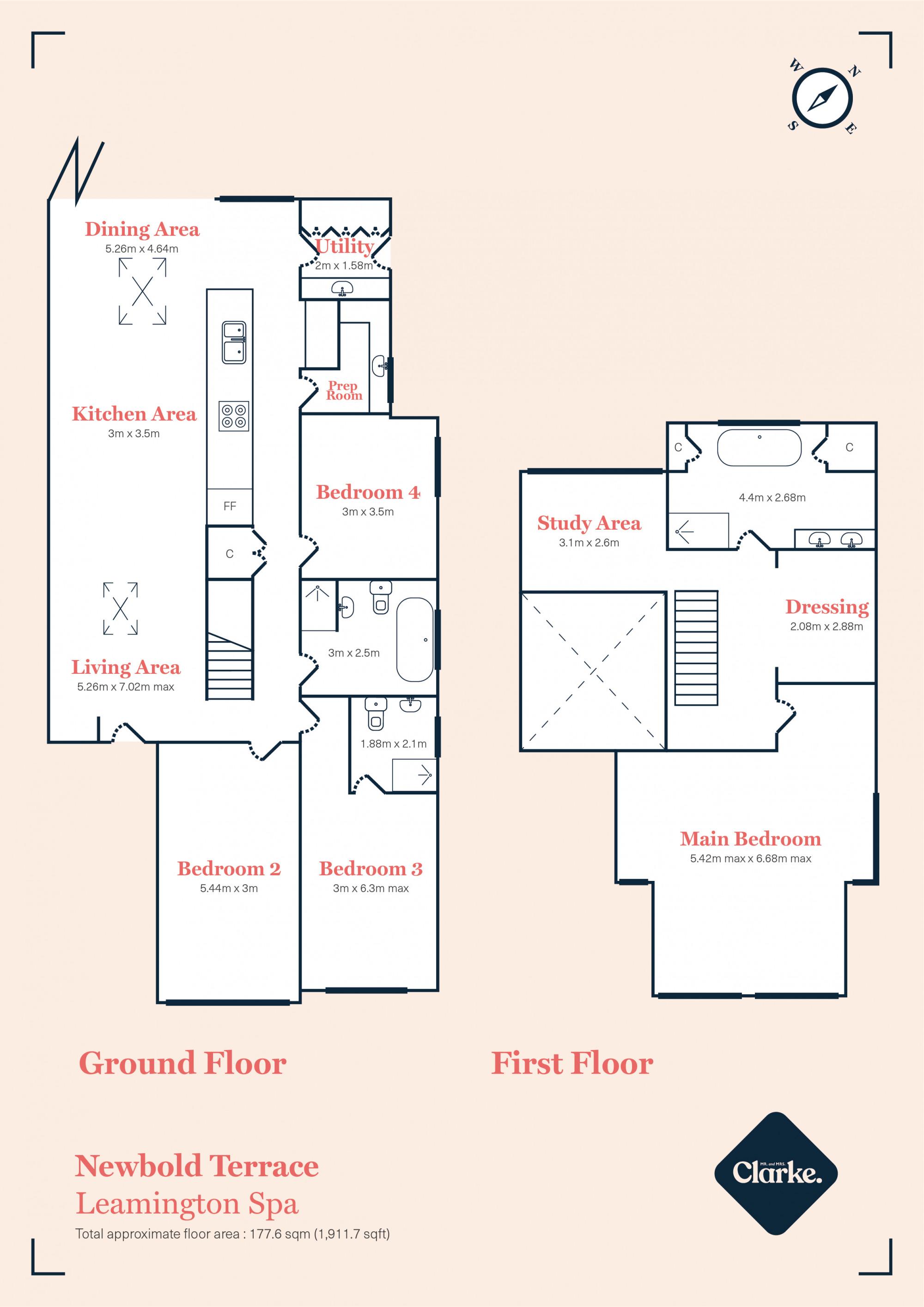 Newbold Terrace East, Leamington Spa. Floorplan.