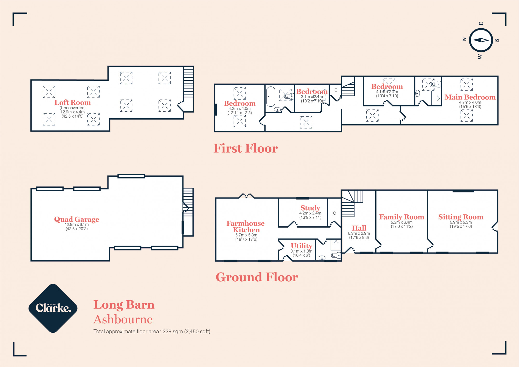 Long Barn, Ashbourne. Floorplan.