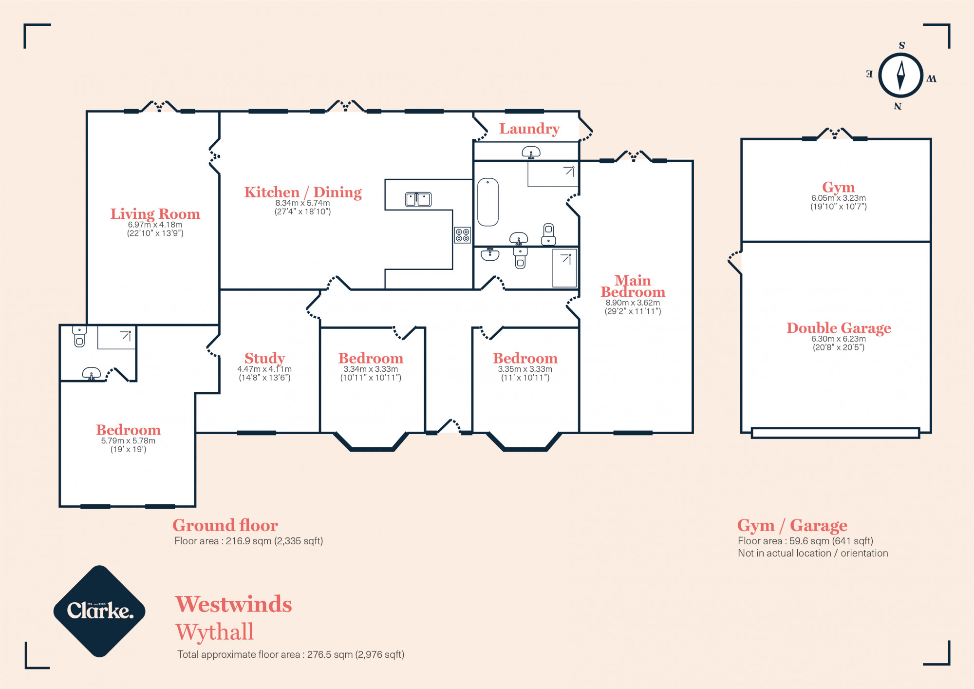 Westwinds, Wythall. Floorplan.