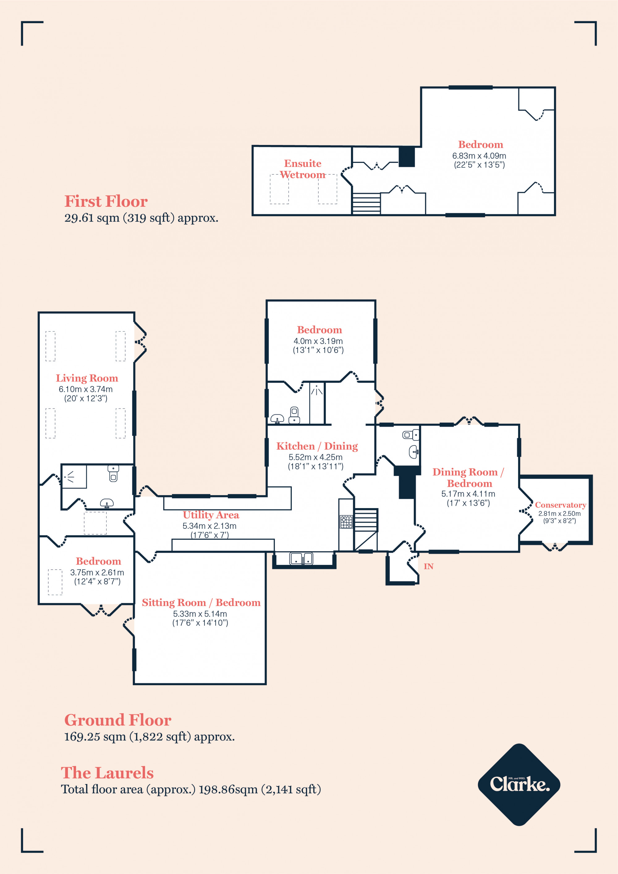 The Laurels, Moreton Paddox. Floorplan.