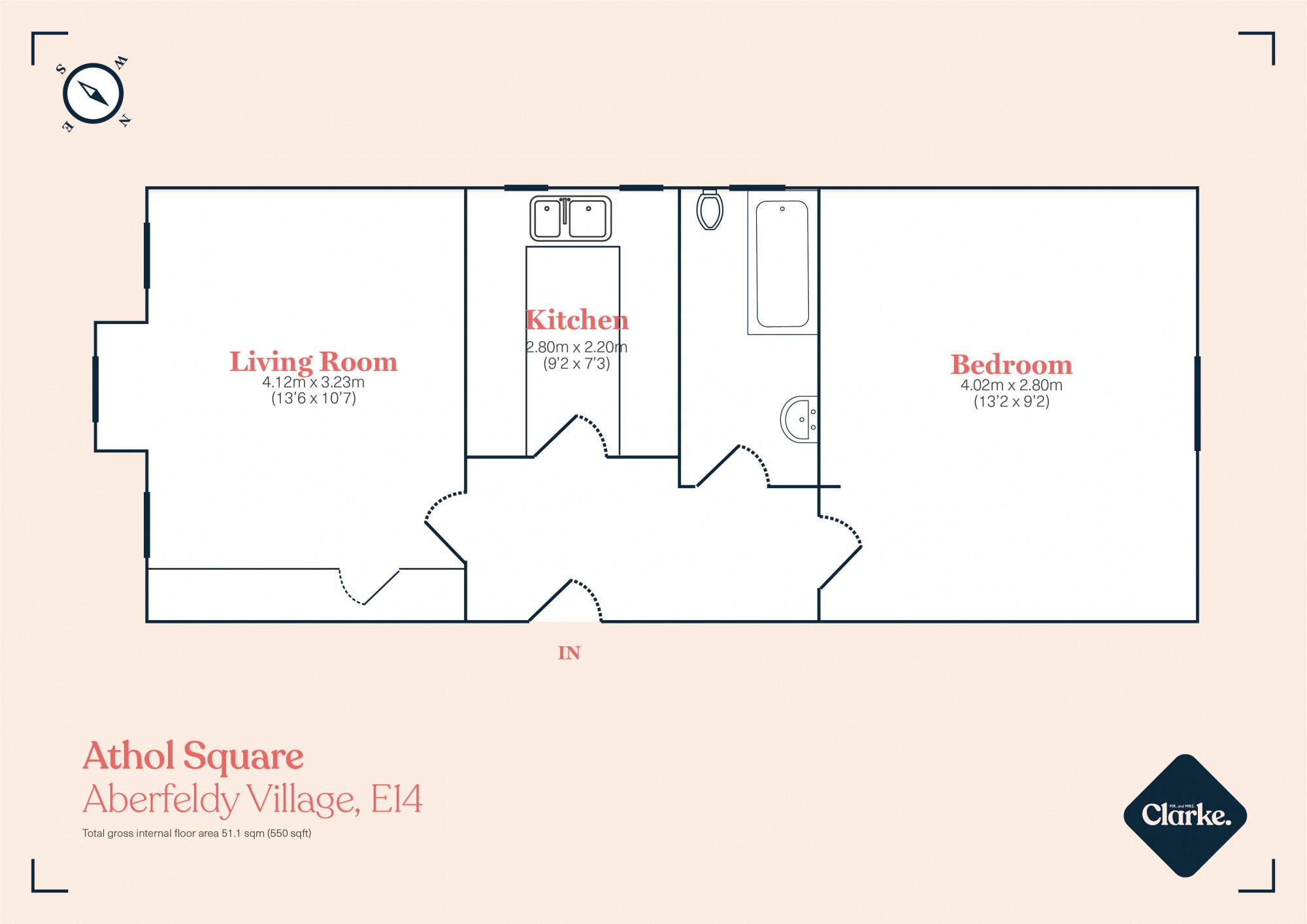 Athol Square, Aberfeldy Village. Floorplan.