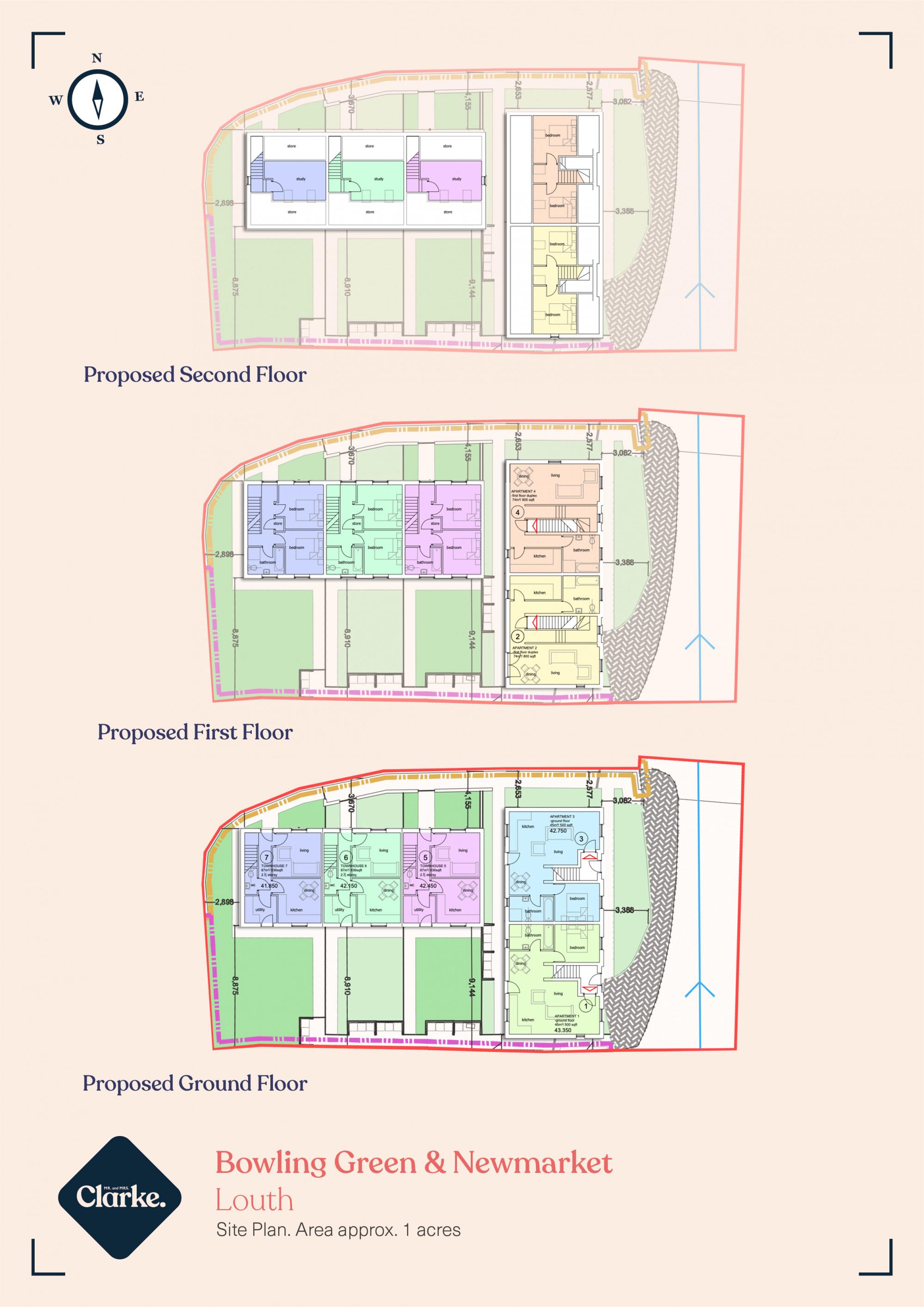 Bowling Green Lane and Newmarket Land, Louth. Floorplan.