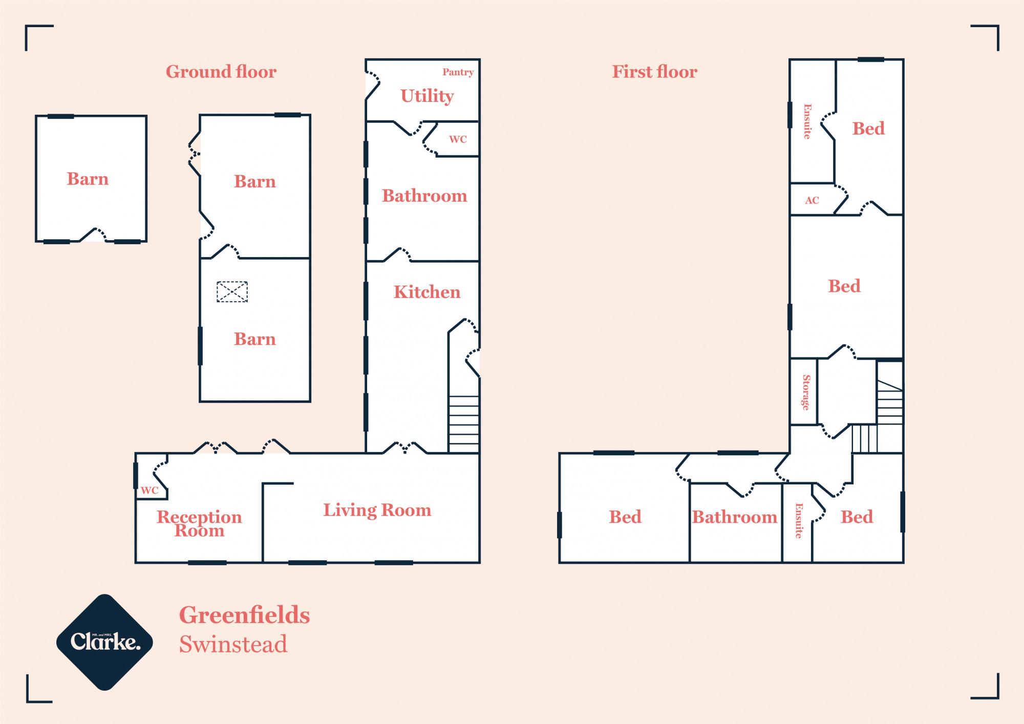 Greenfields, Swinstead. Floorplan.