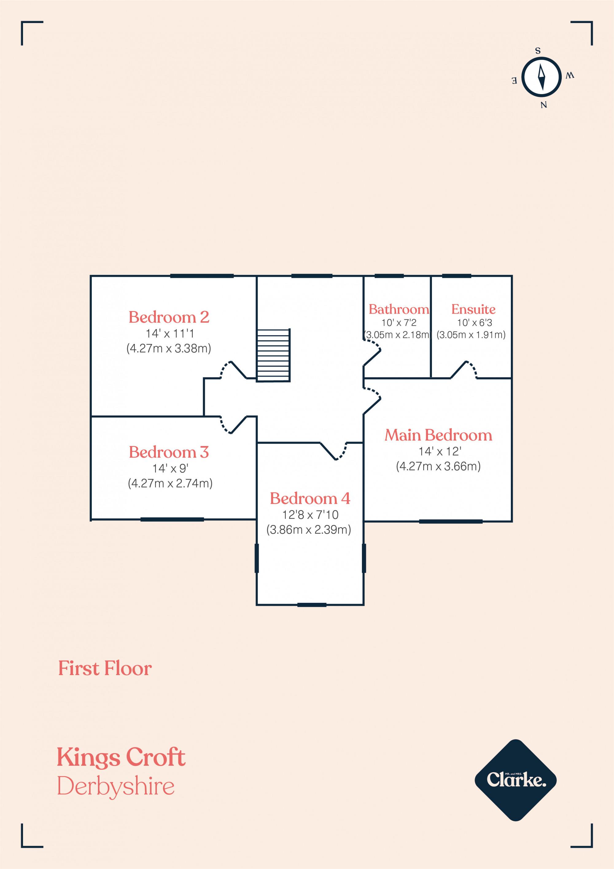 Kingscroft, Allestree. Floorplan.