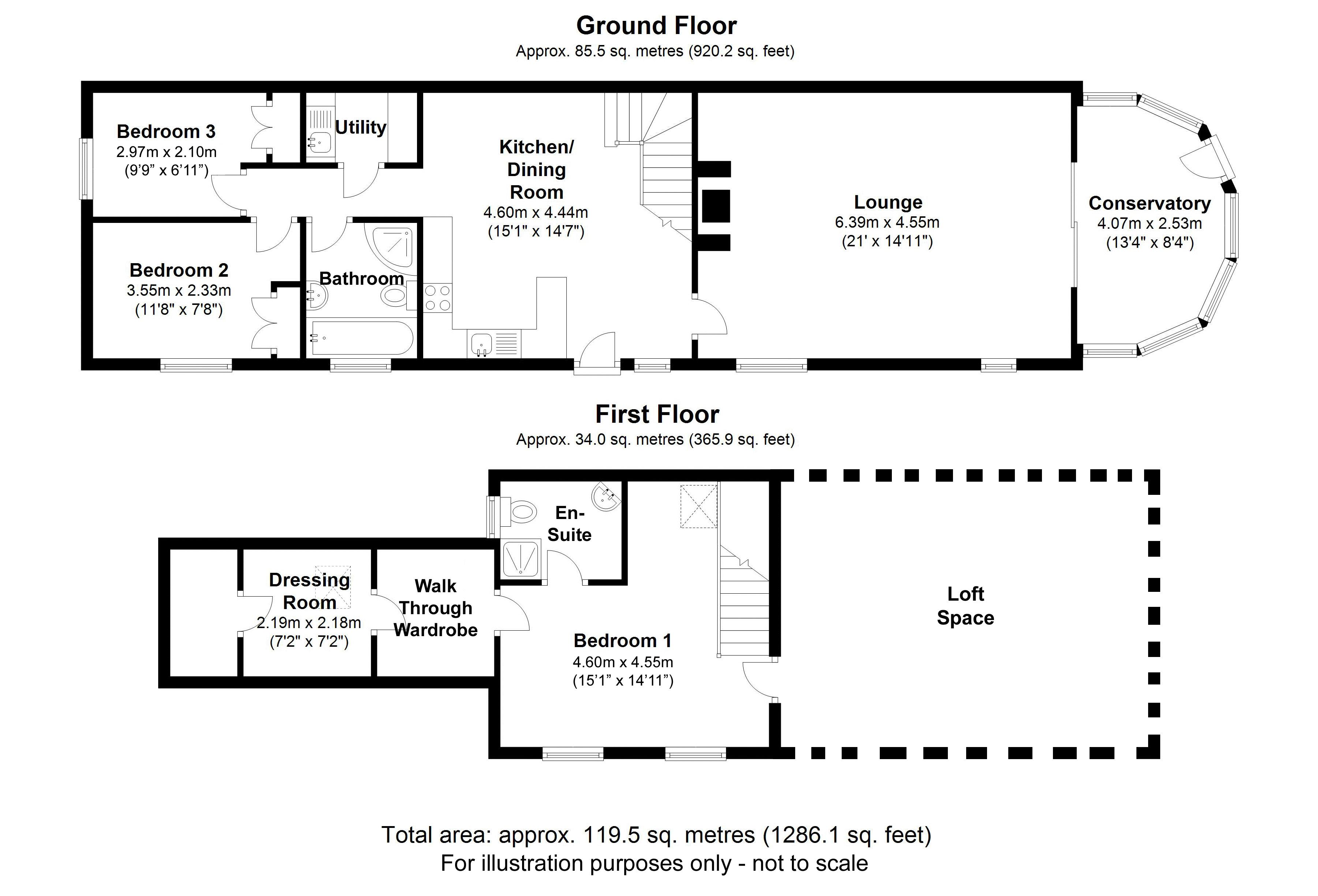 The Granary, Beoley. Floorplan.