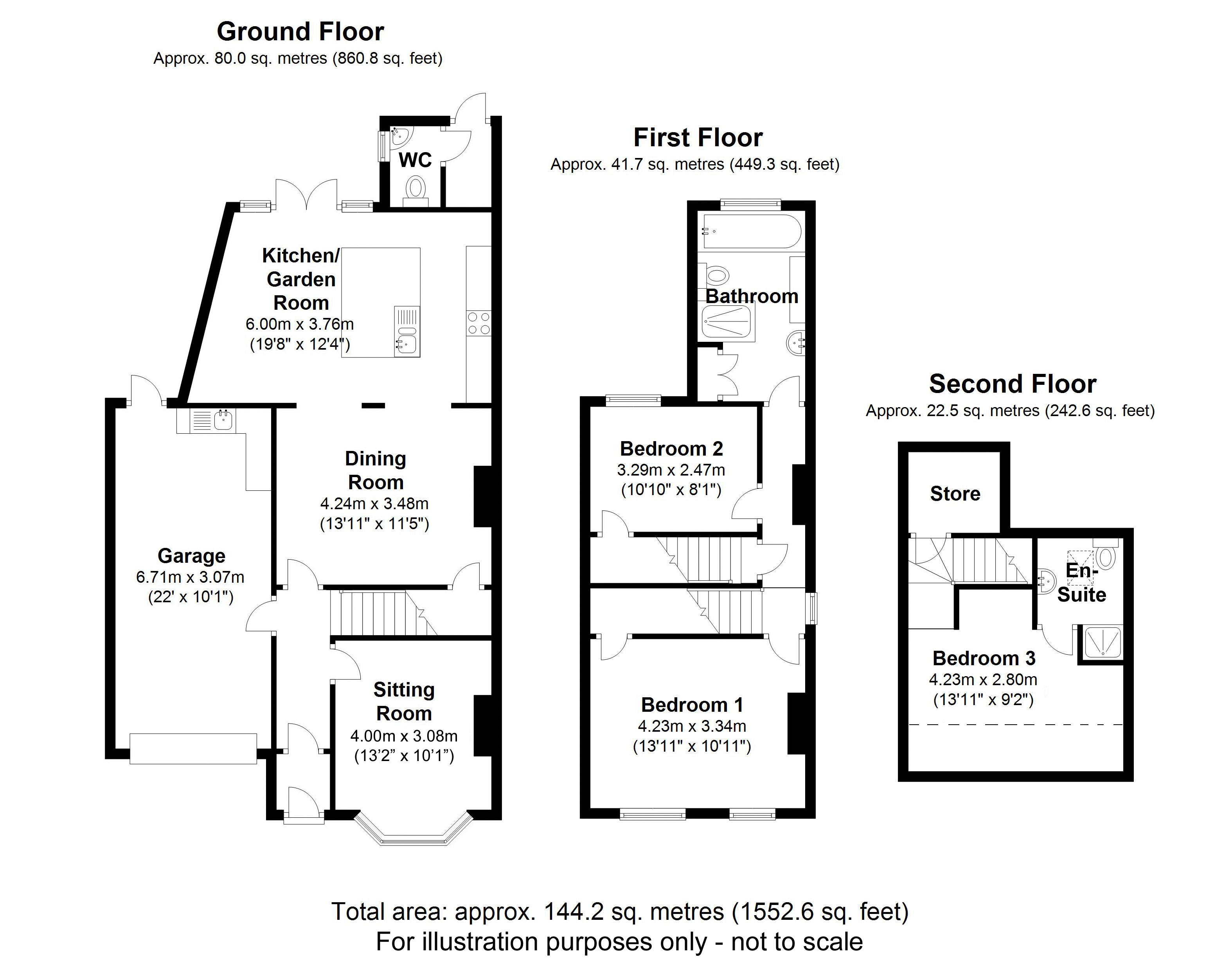 134 Lodge Road, West Midlands. Floorplan.