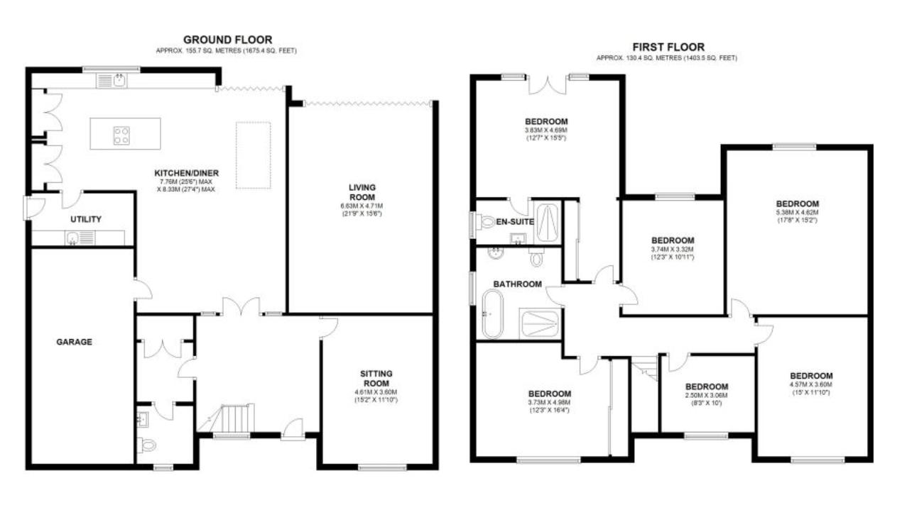 Broad Oaks Road, Solihull. Floorplan.