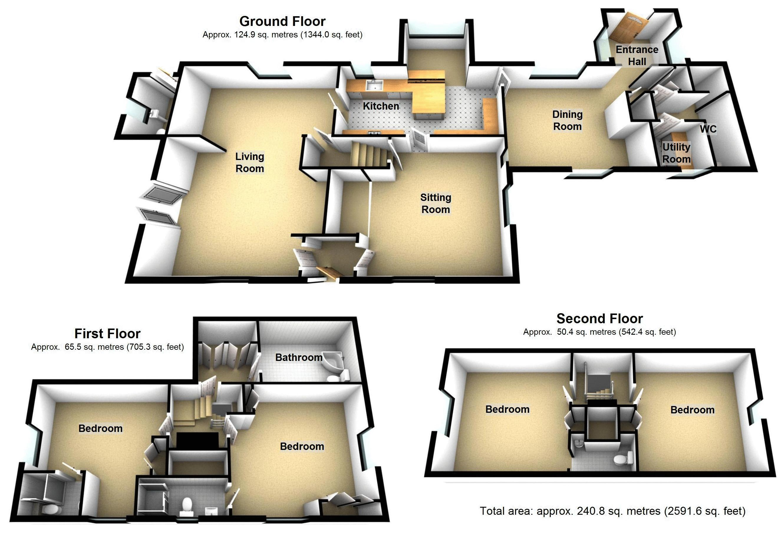 Frogmore, Kenilworth. Floorplan.