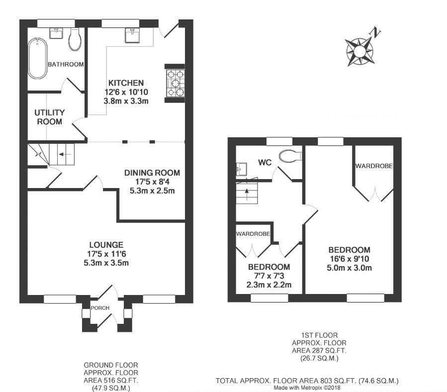 Shambles Cottage, Dunchurch. Floorplan.