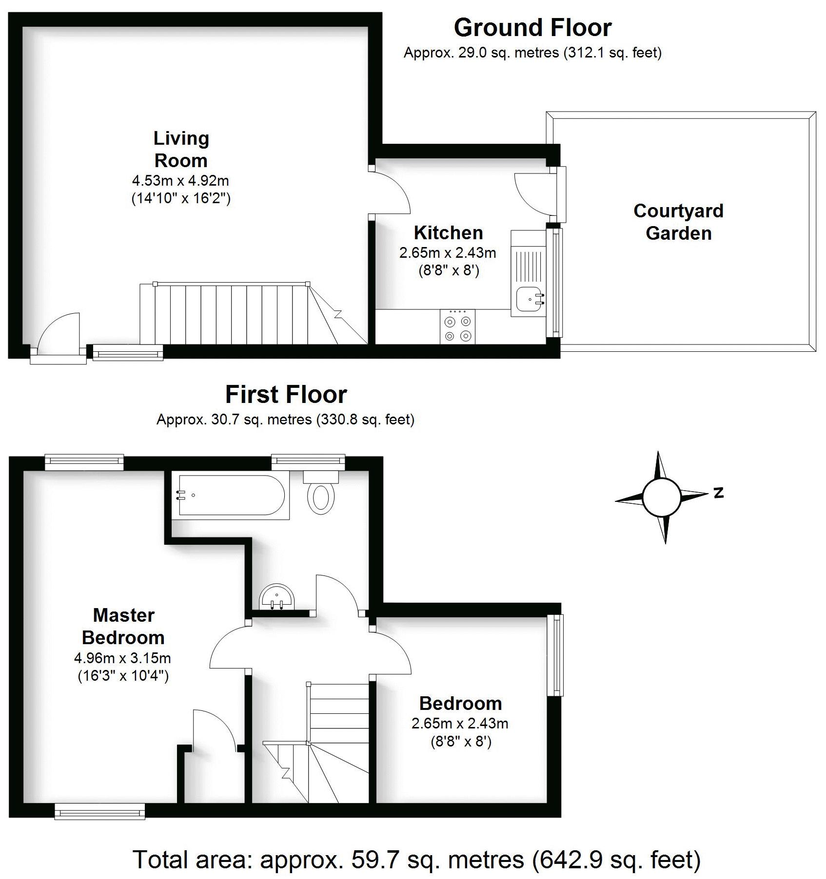 Kenilworth Hall Mews, Kenilworth. Floorplan.