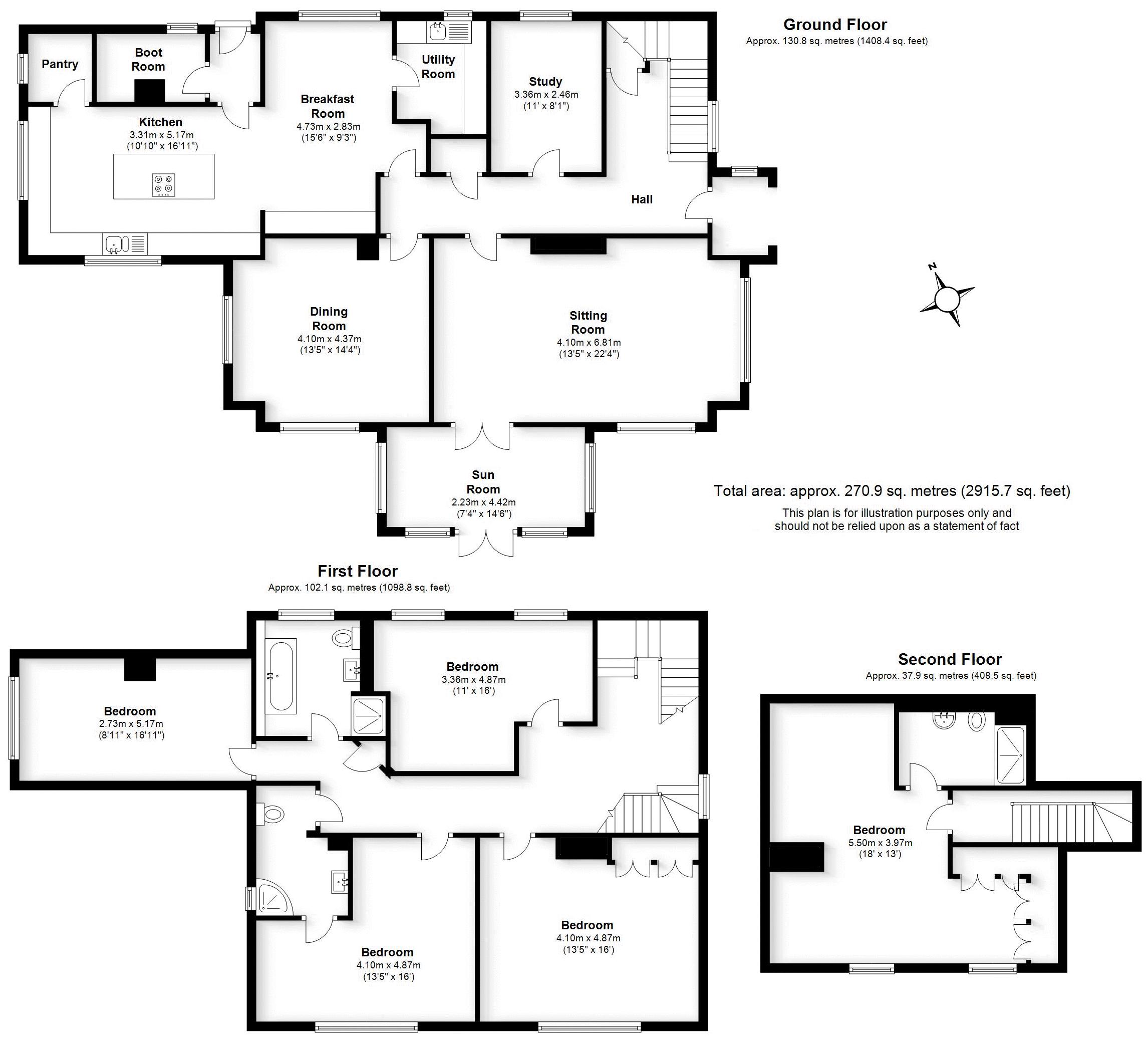 Borrowcop Lane, Staffordshire. Floorplan.