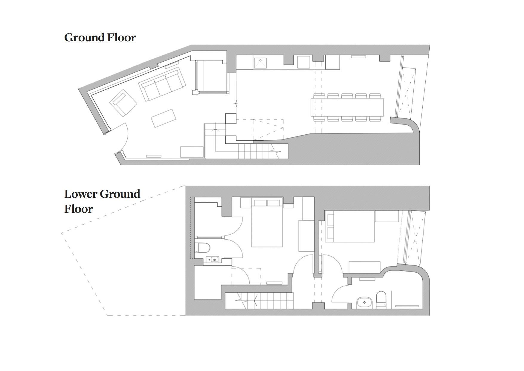 Northampton Grove, Canonbury. Floorplan.