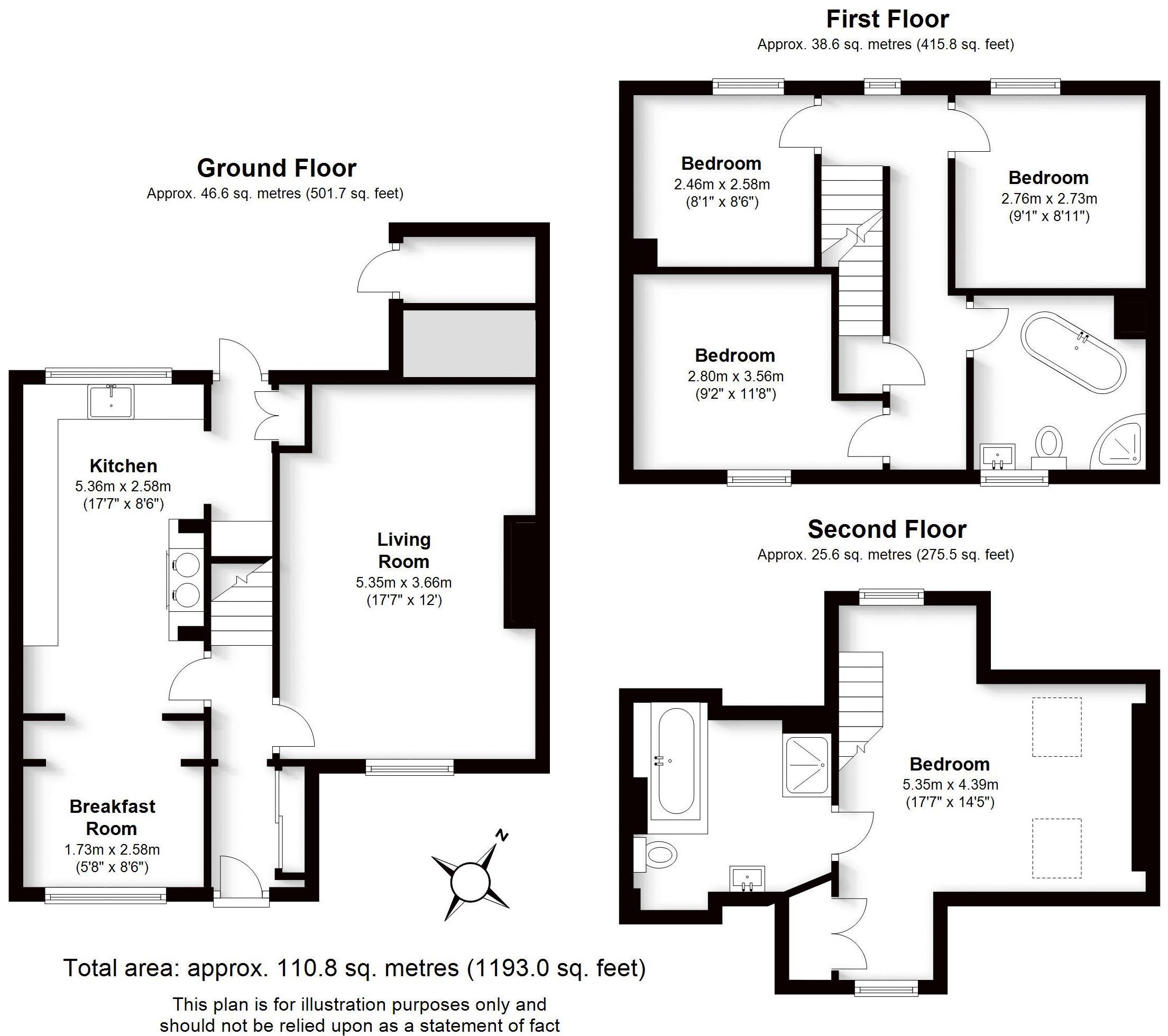 March Cottage, Warwick. Floorplan.
