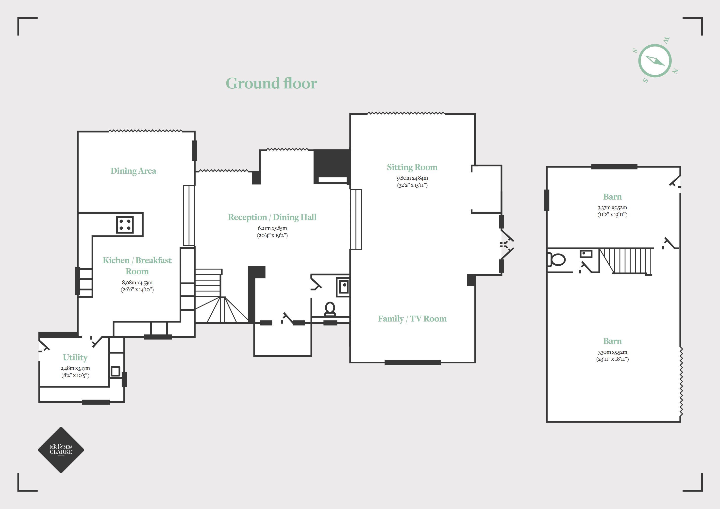 Chestnut House, Lapworth. Floorplan.
