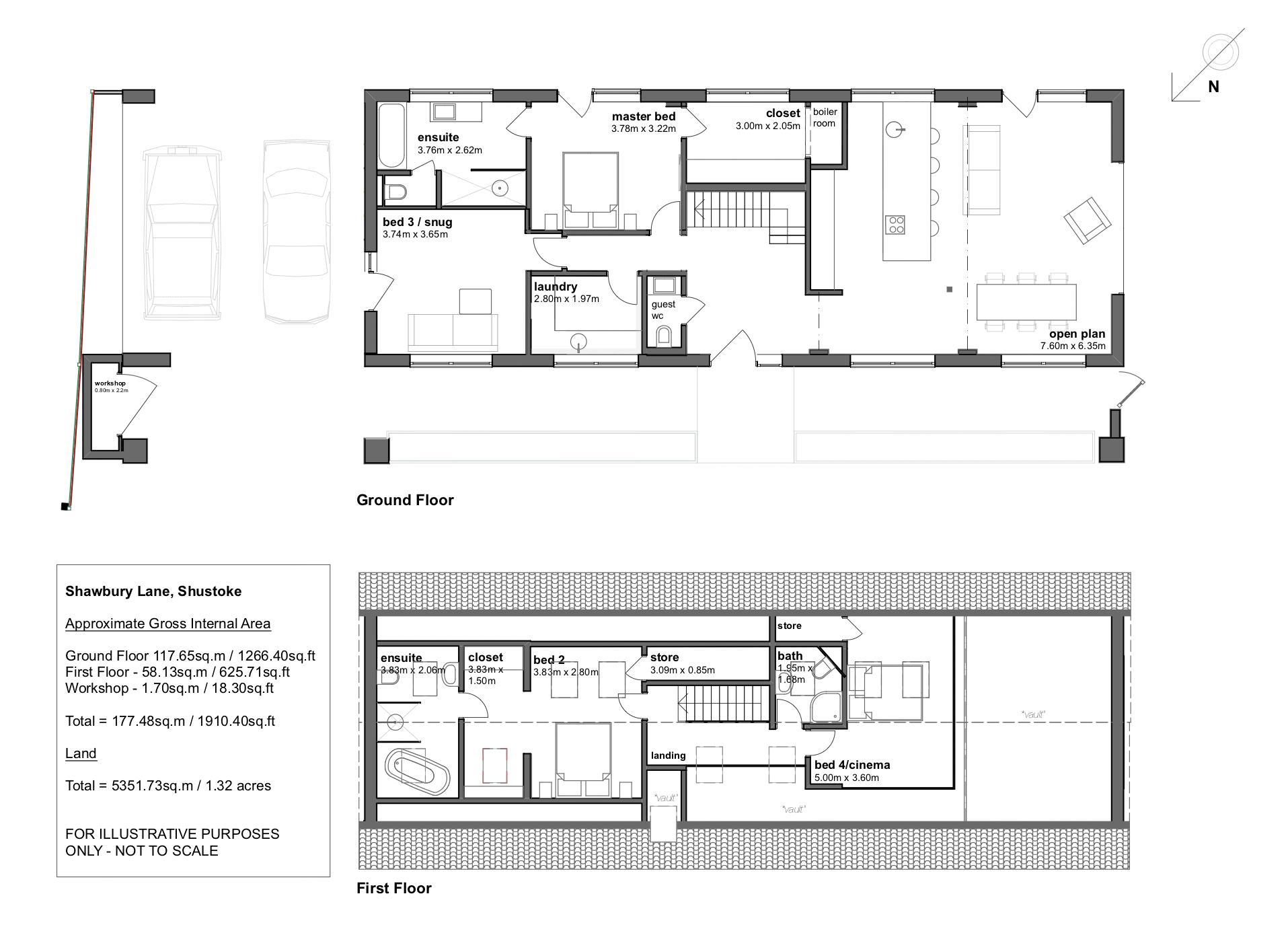 The Old Brick House, Shustoke. Floorplan.