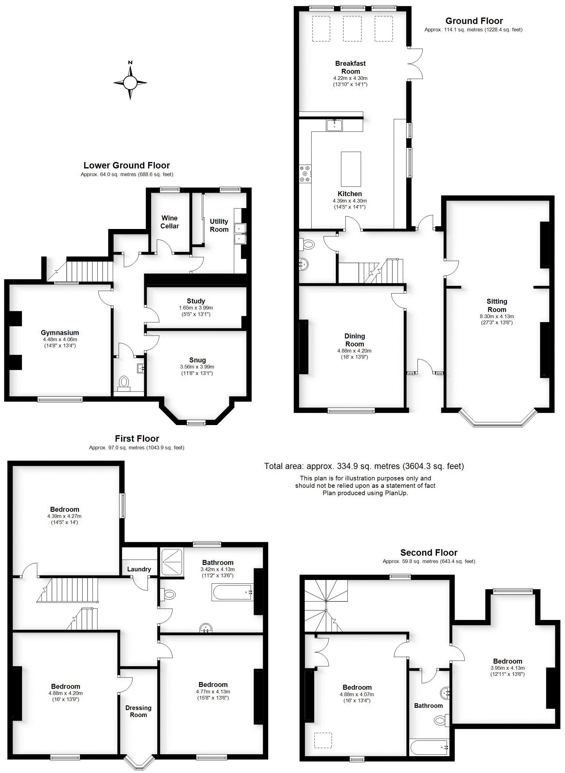 Beauchamp Avenue, Warwickshire. Floorplan.
