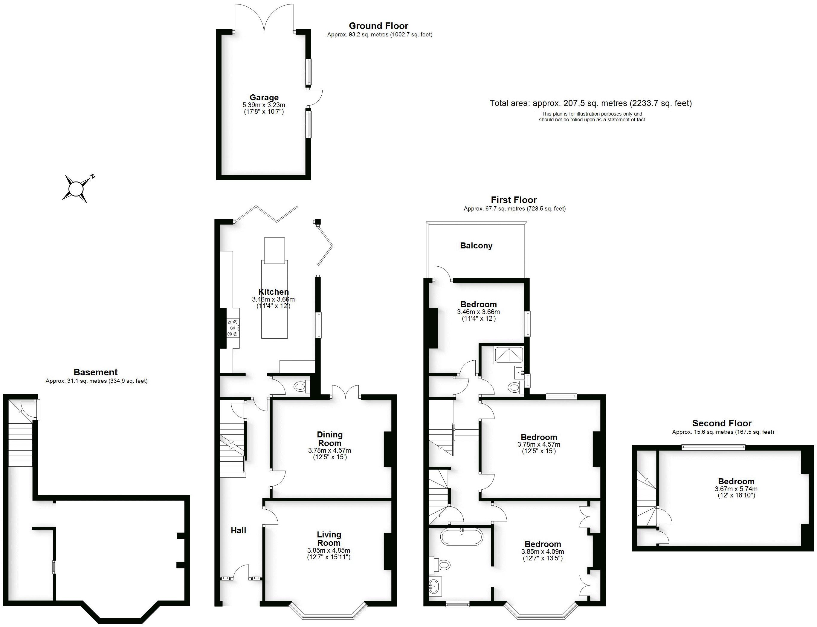 Campion Terrace, Leamington Spa. Floorplan.