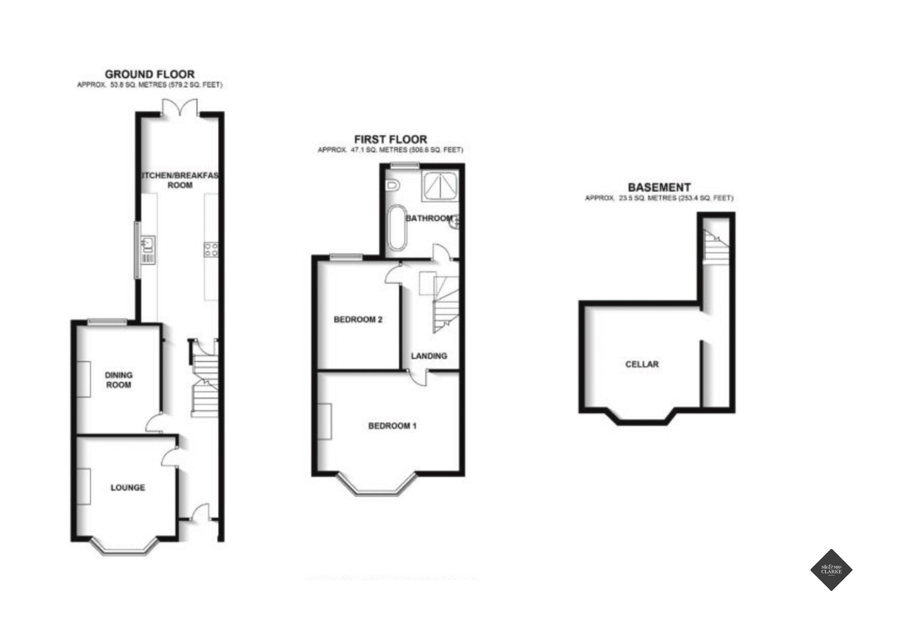 Plymouth Place, Leamington Spa. Floorplan.