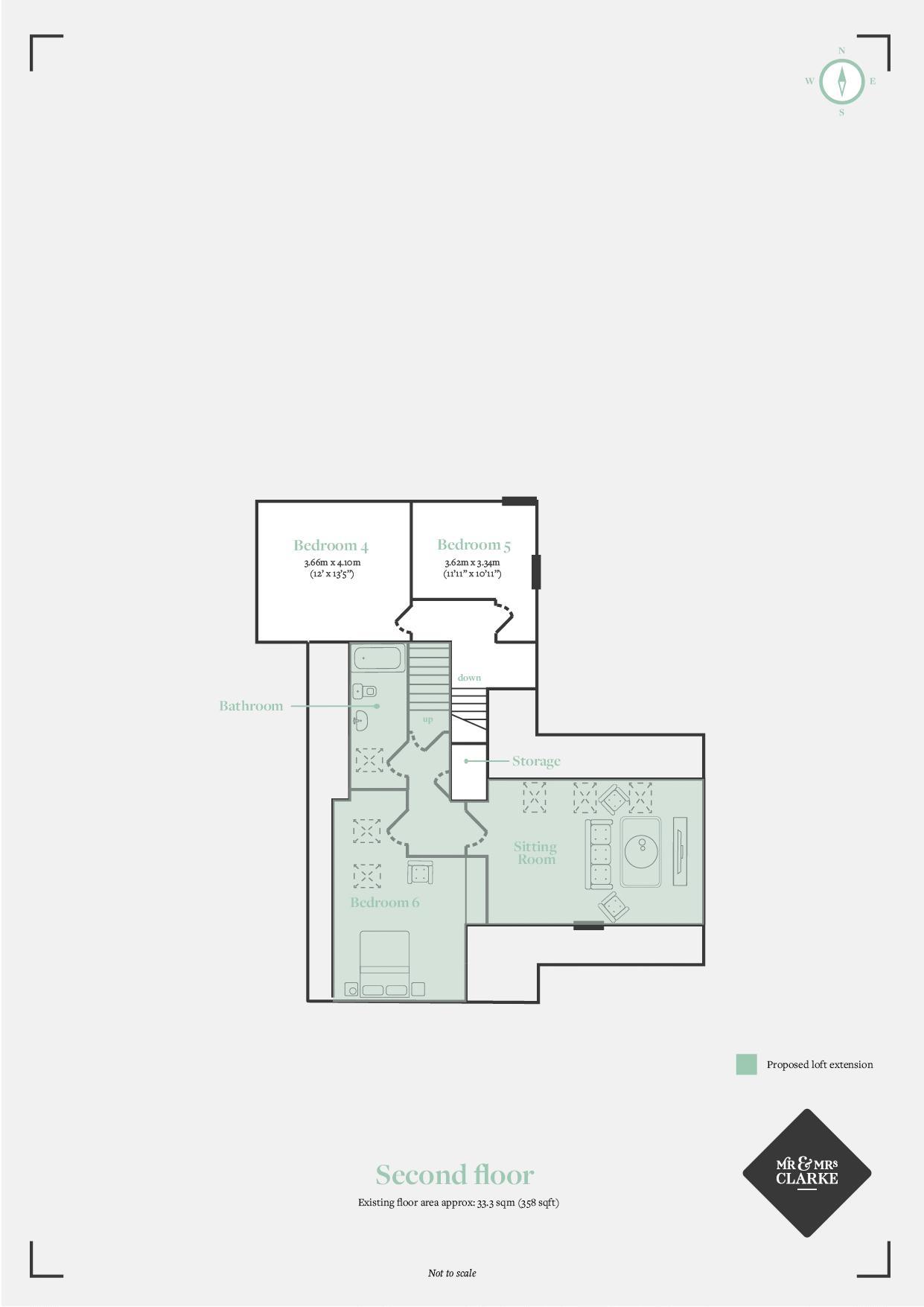 Binswood Avenue, Leamington Spa. Floorplan.
