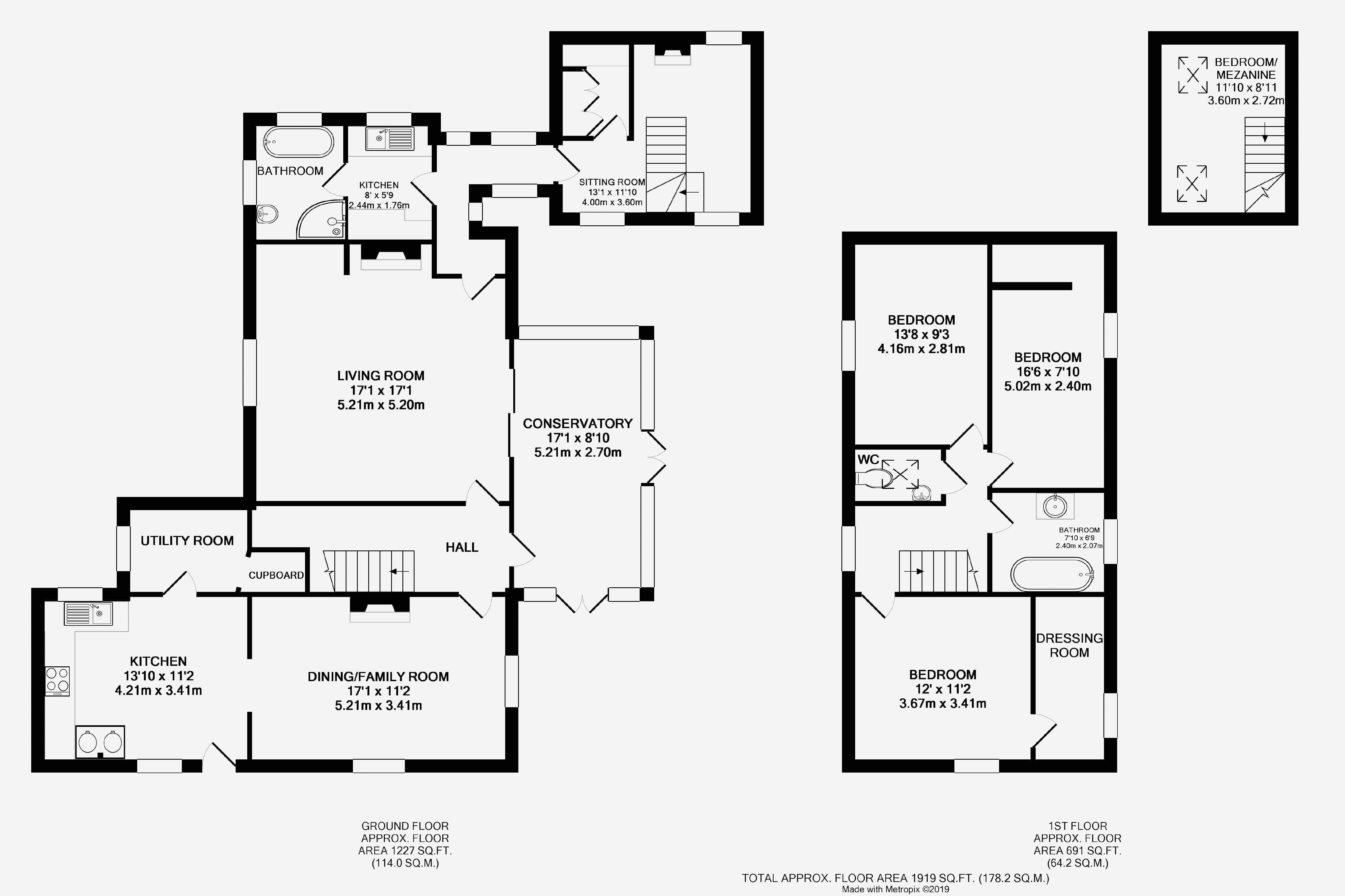Wagster Cottage, Shustoke. Floorplan.