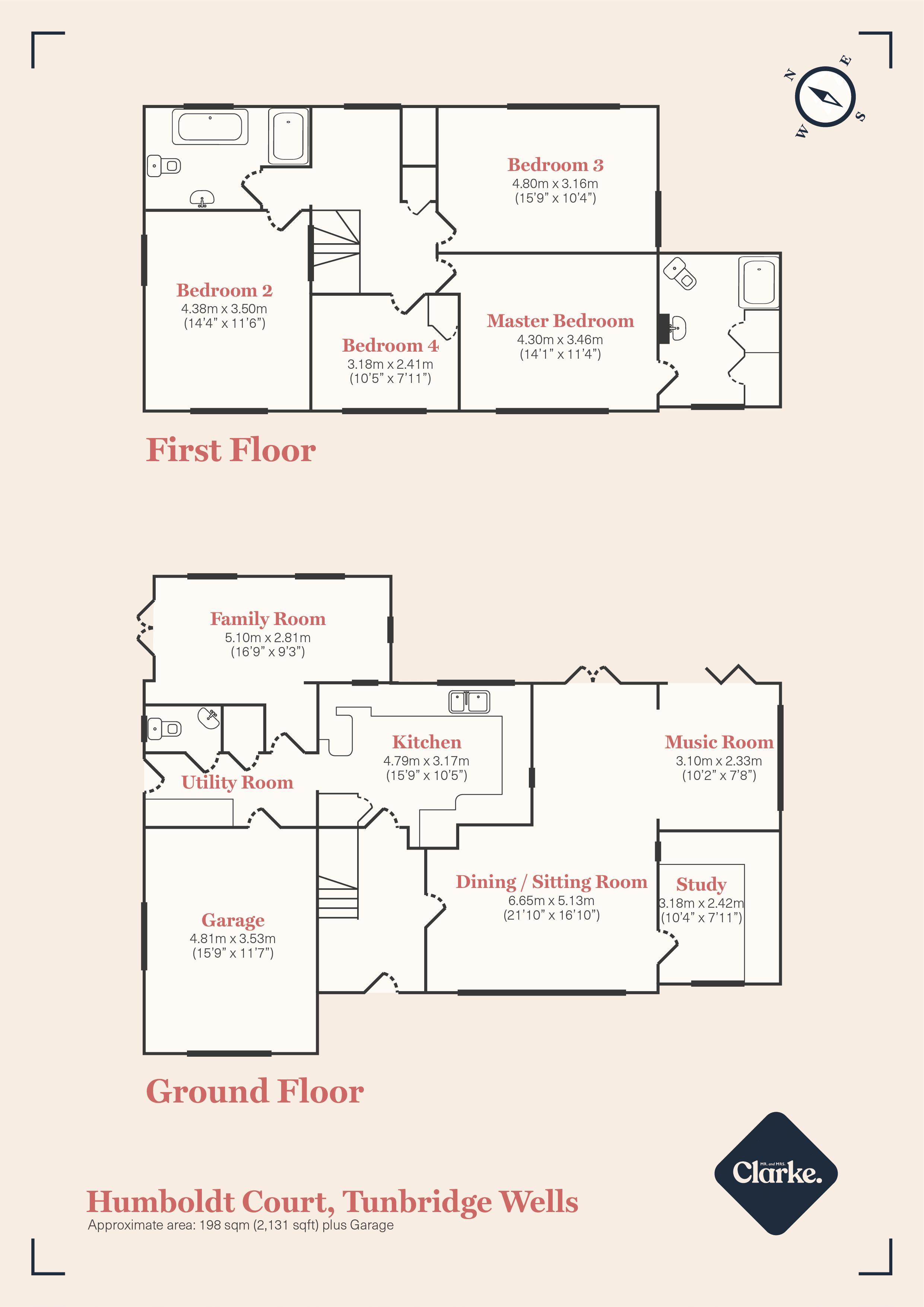 Humboldt Court, Tunbridge Wells. Floorplan.