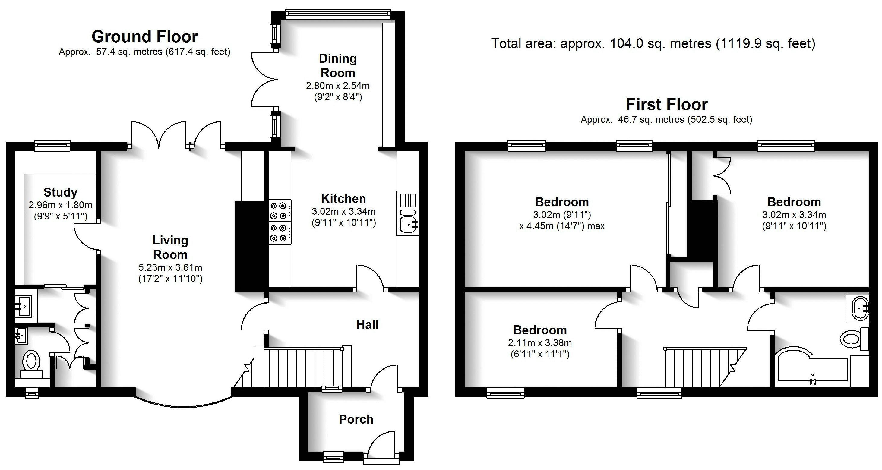 Bellfield, Tanworth-in-Arden. Floorplan.