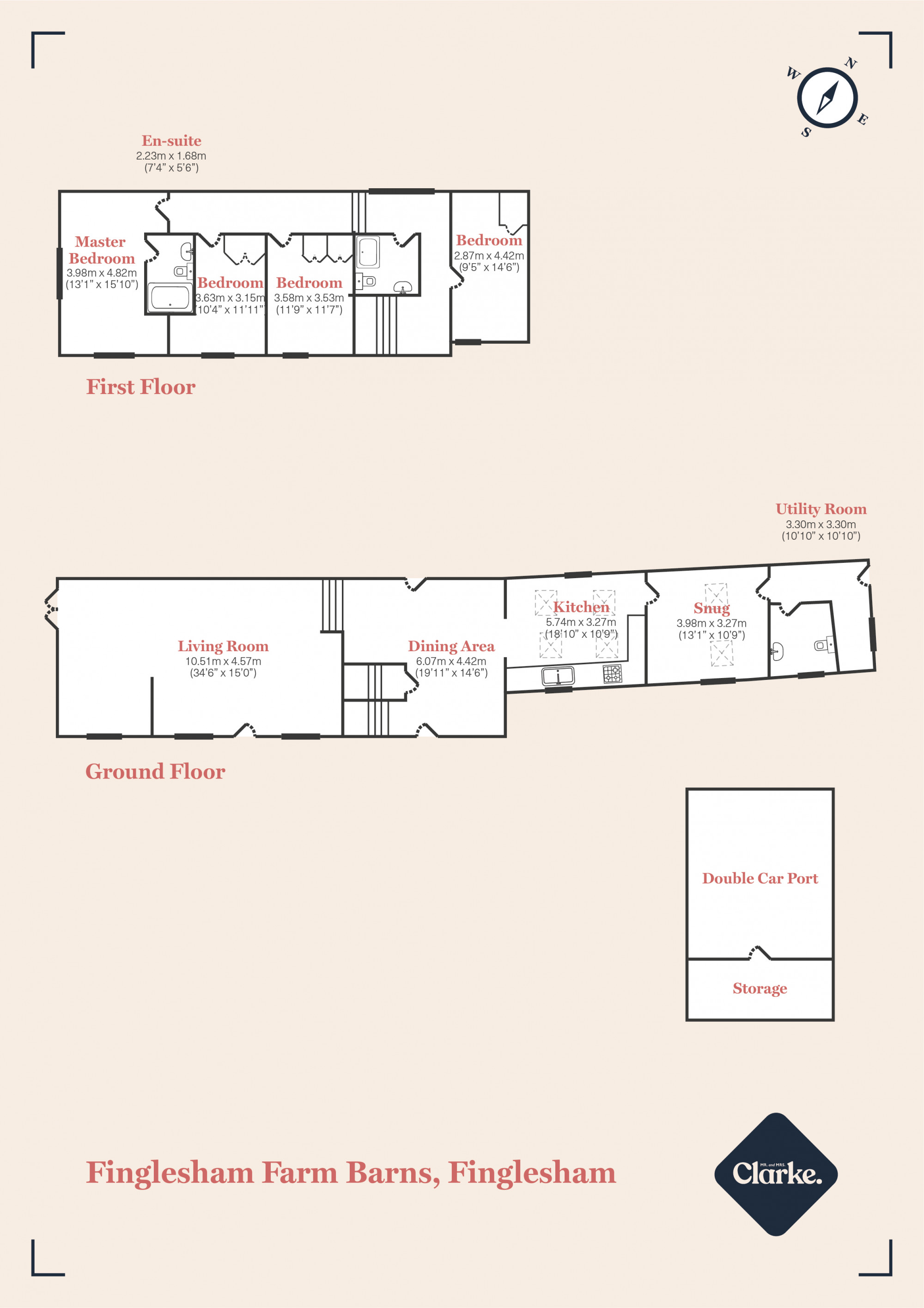 Finglesham Barn, Deal. Floorplan.