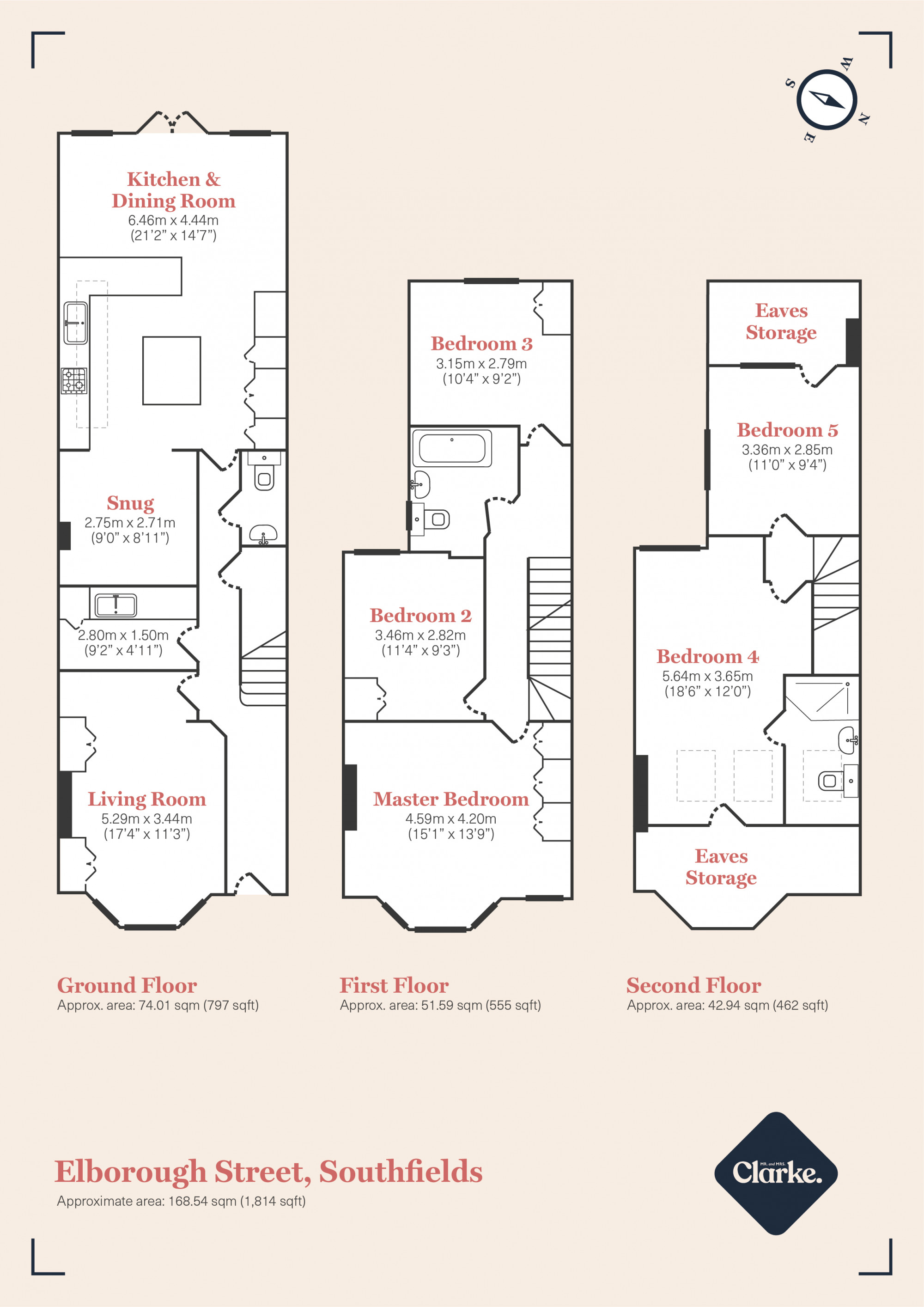 Elborough Street, Southfields. Floorplan.