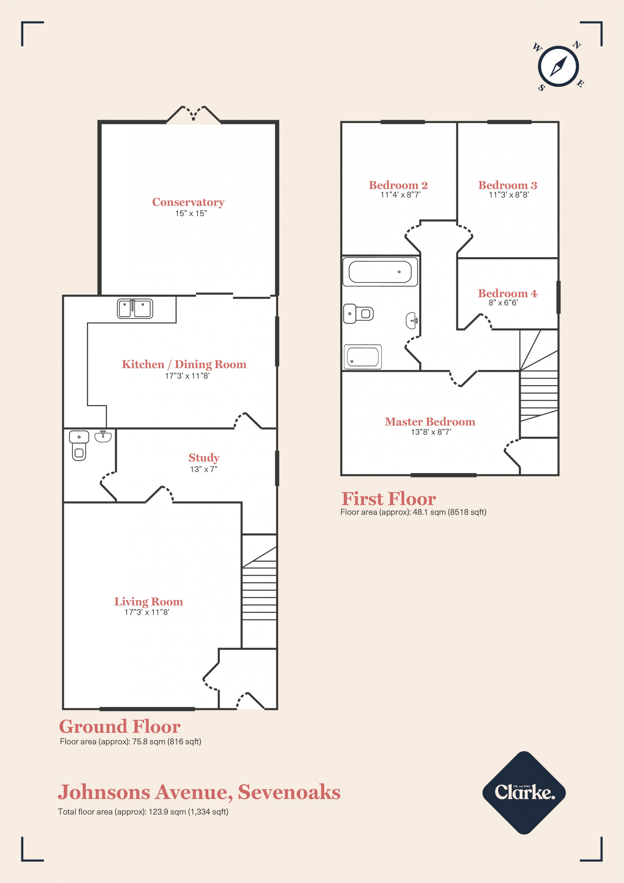 Johnsons Avenue, Sevenoaks. Floorplan.
