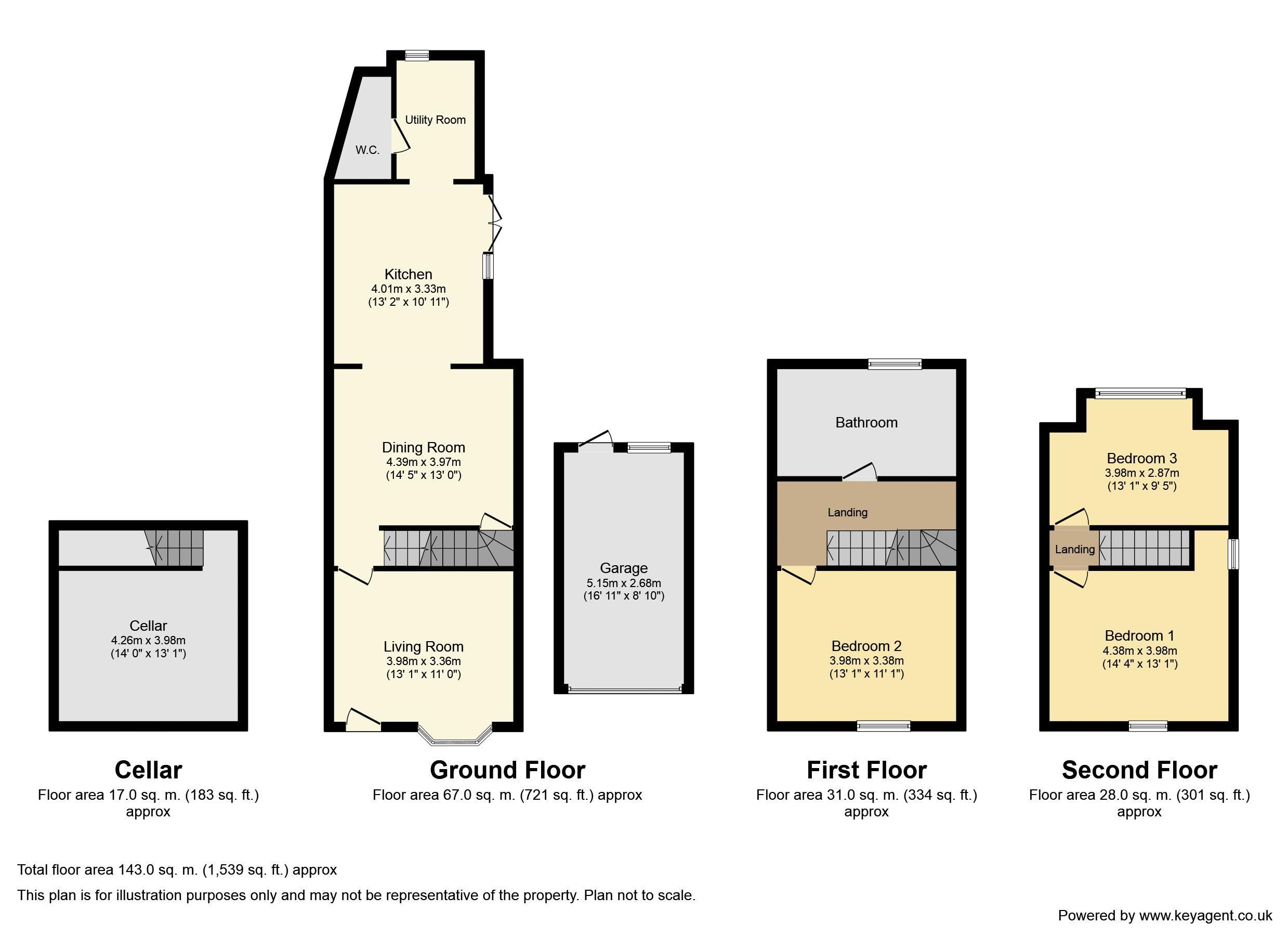 Mill Lane, West Midlands. Floorplan.
