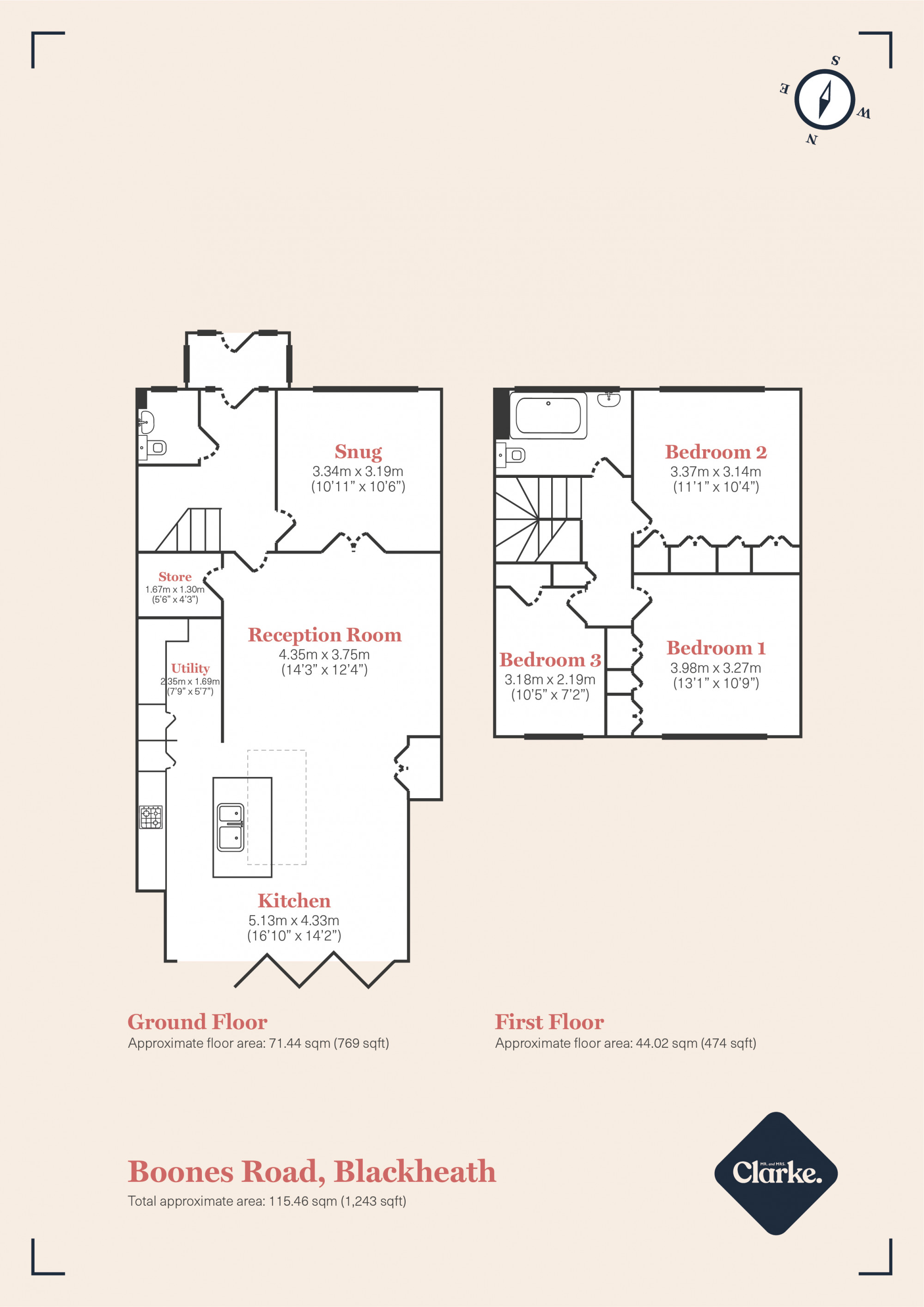 Boones Road, Blackheath. Floorplan.