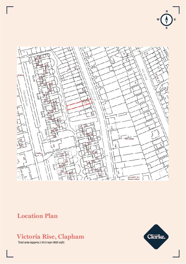 Victoria Rise, Clapham Old Town. Floorplan.