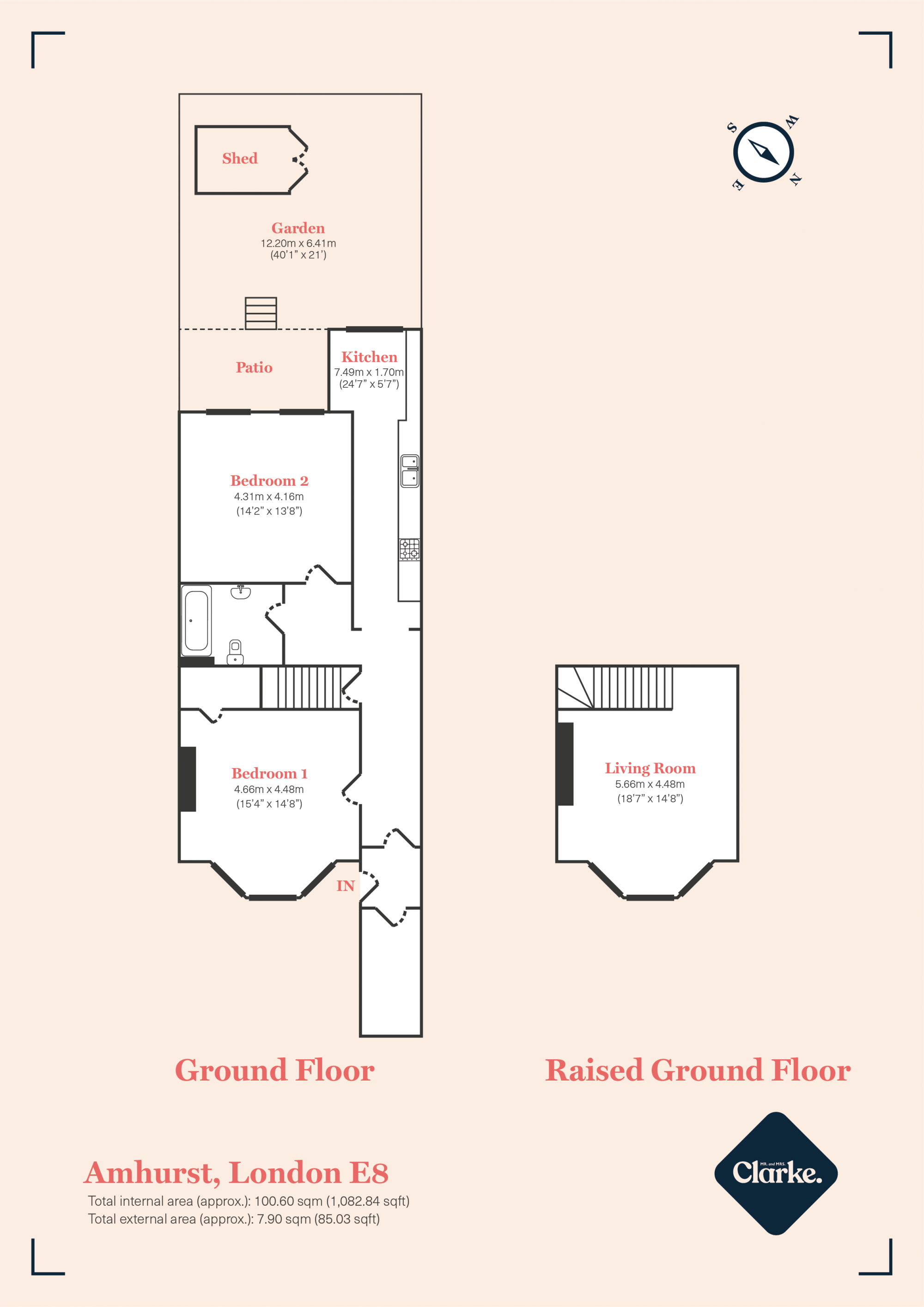 Amhurst Road, Hackney Downs. Floorplan.
