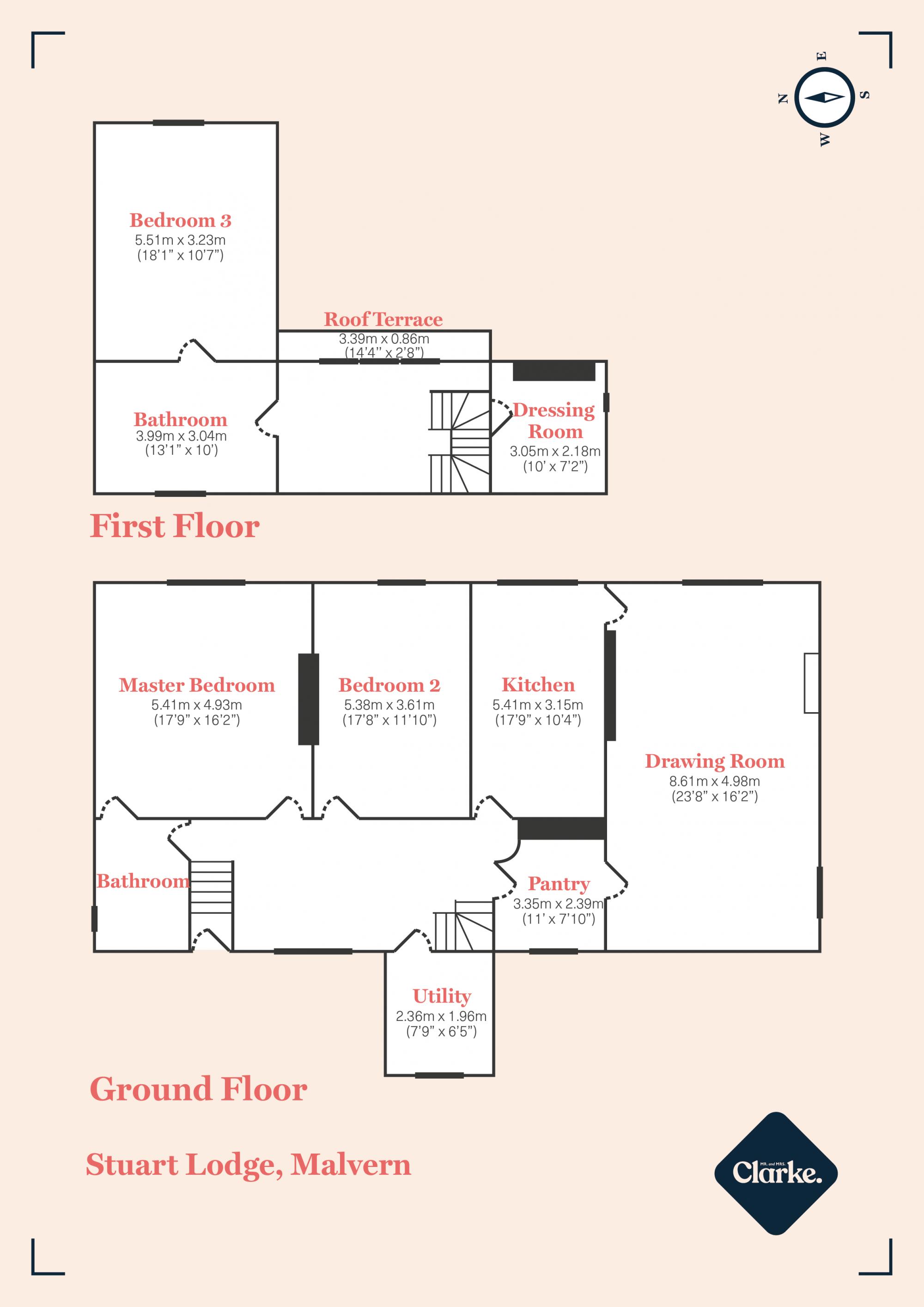 Stuart Lodge, Malvern. Floorplan.