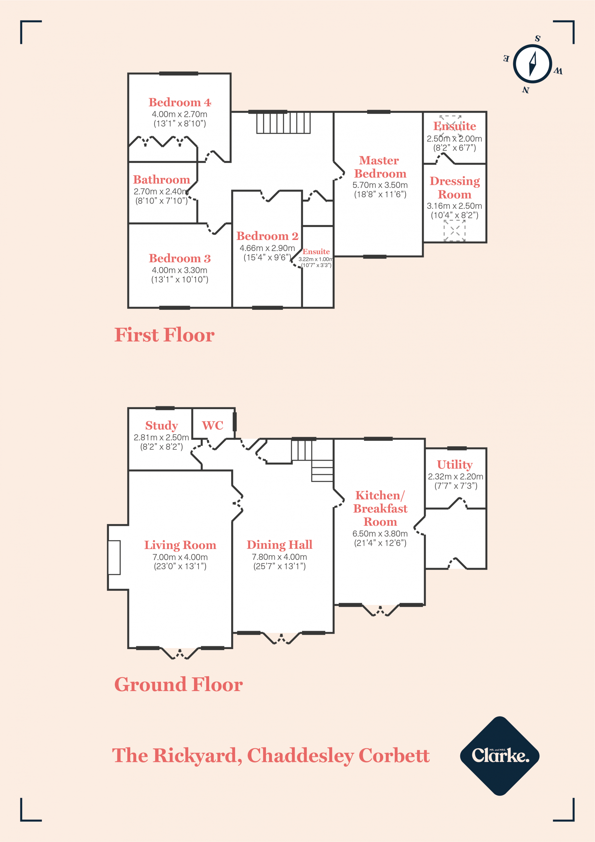 The Rickyard, Chaddesley Corbett. Floorplan.