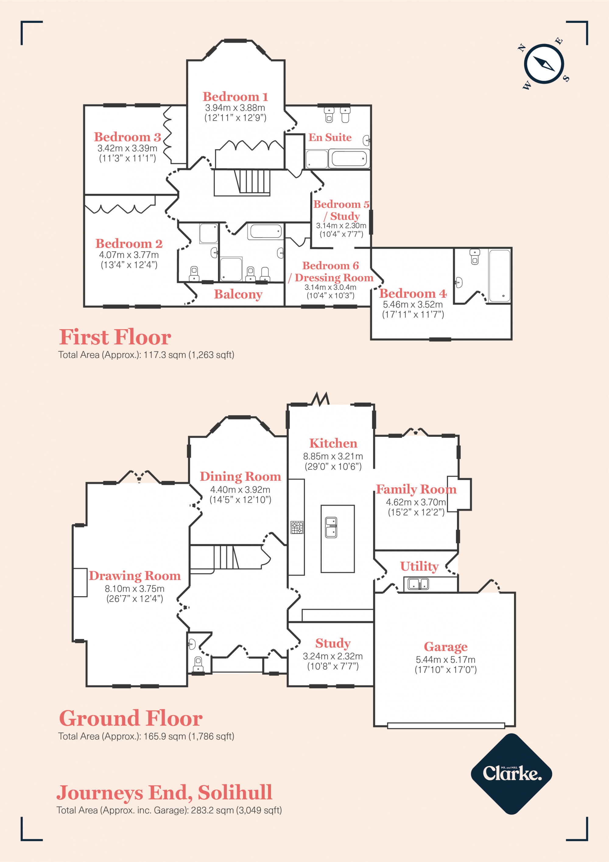 Journeys End, Solihull. Floorplan.