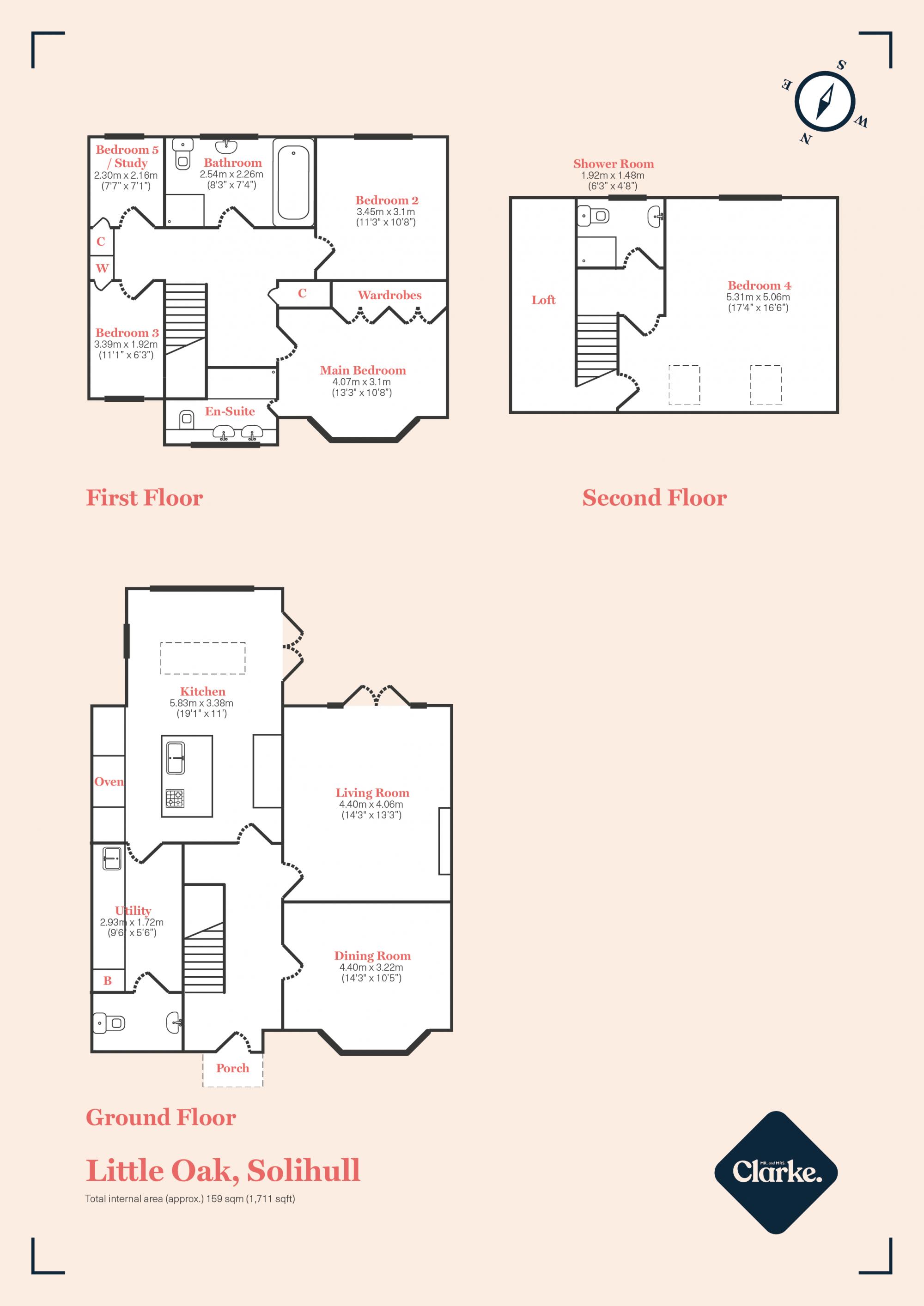 Little Oak, Chadwick End. Floorplan.