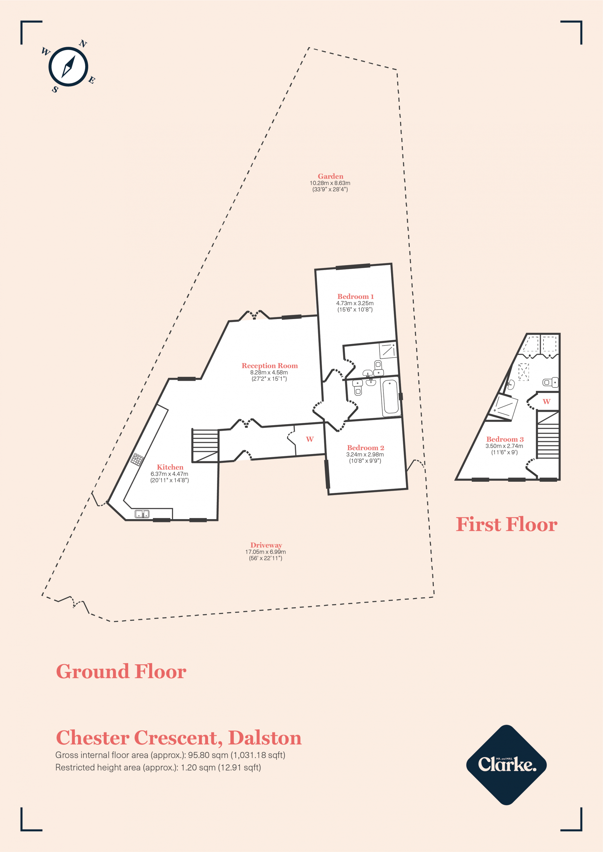 Chester Crescent, Dalston. Floorplan.
