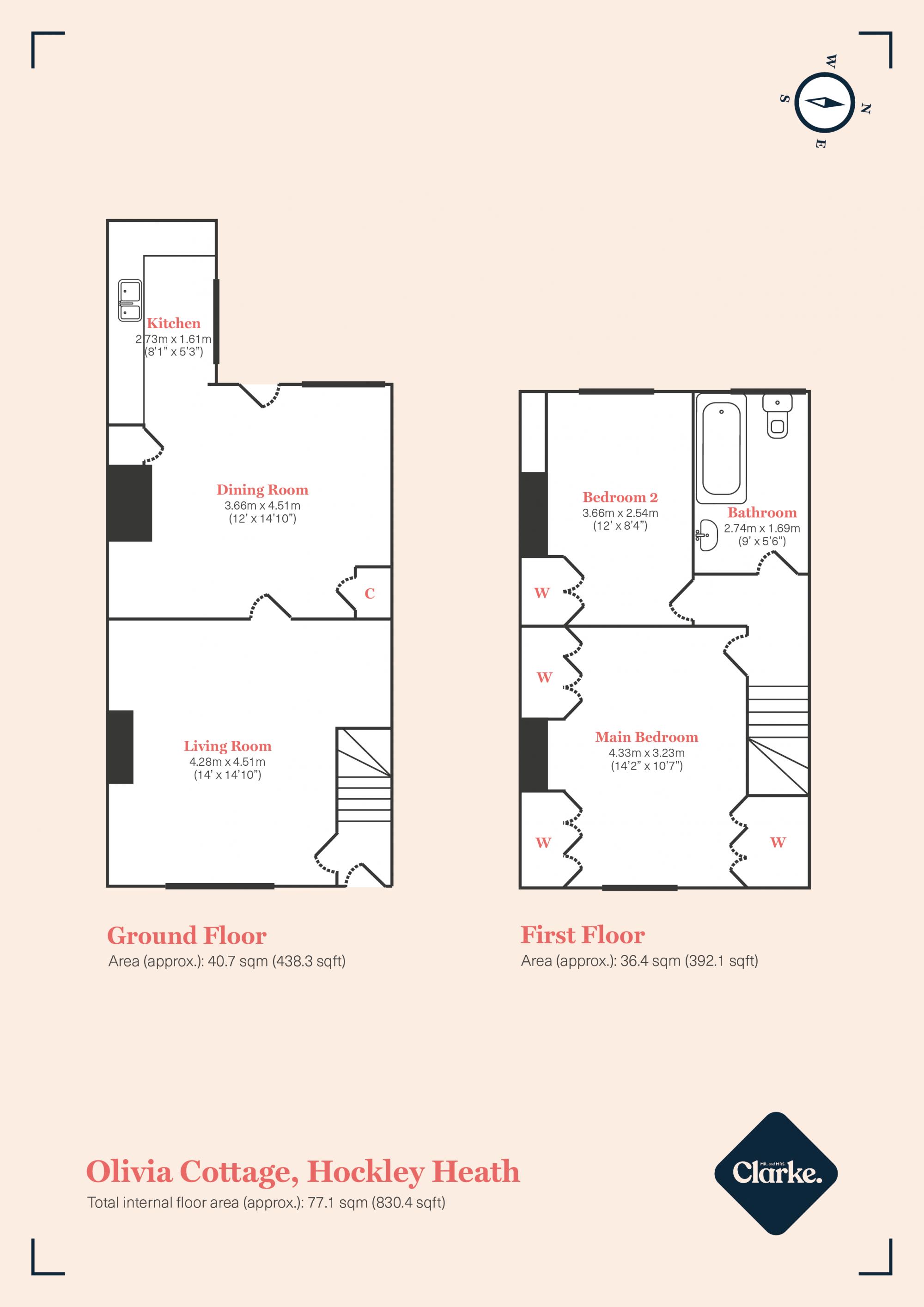 Olivia Cottage, Hockley Heath. Floorplan.