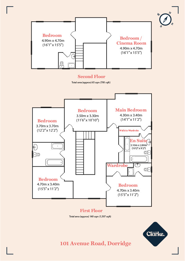 Avenue Road, Dorridge. Floorplan.