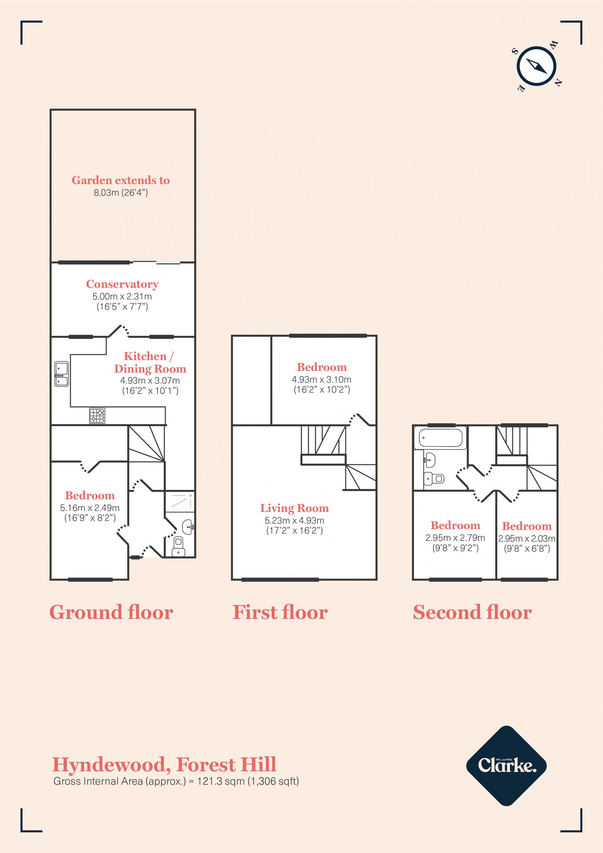 Hyndewood, Forest Hill. Floorplan.